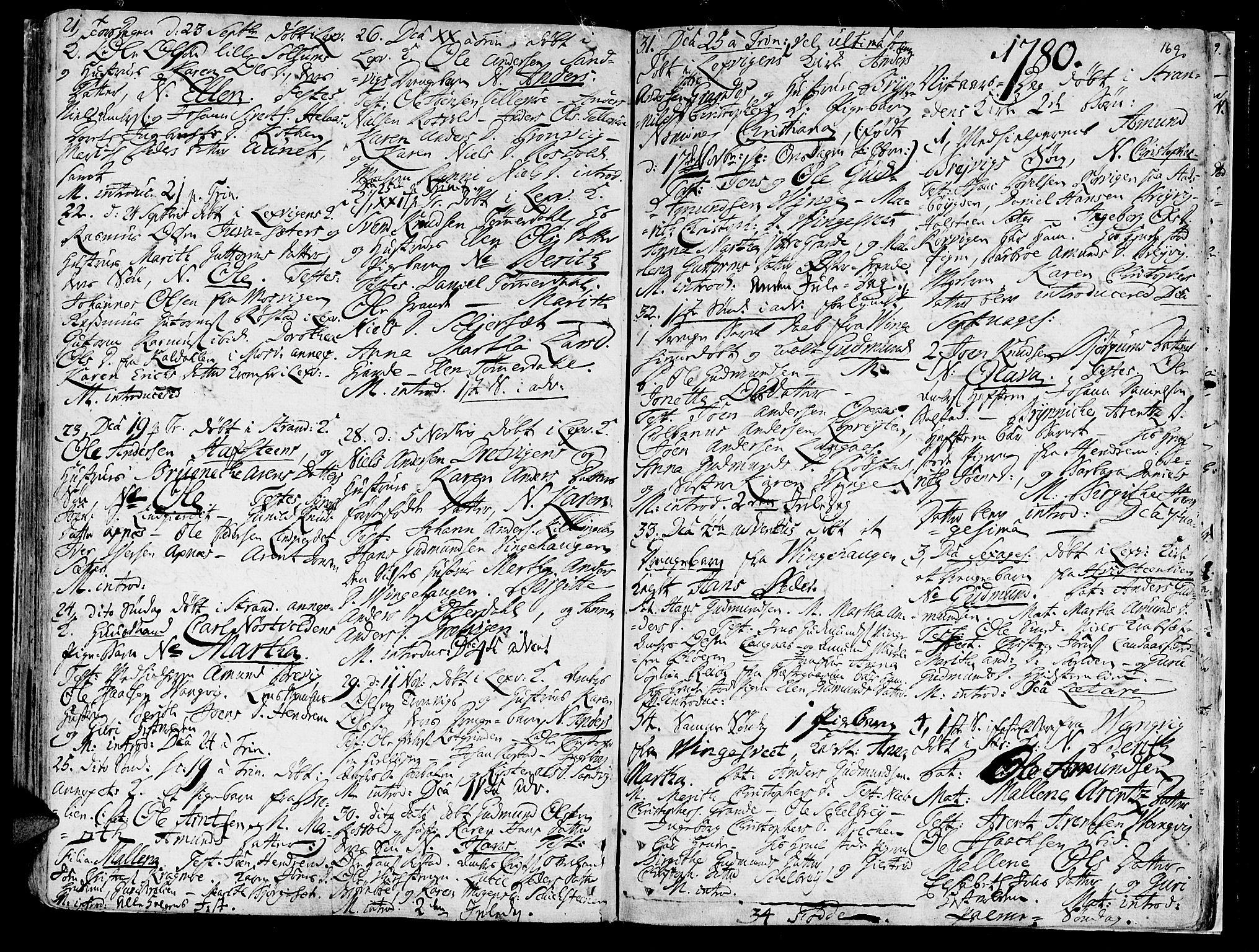 SAT, Ministerialprotokoller, klokkerbøker og fødselsregistre - Nord-Trøndelag, 701/L0003: Ministerialbok nr. 701A03, 1751-1783, s. 169