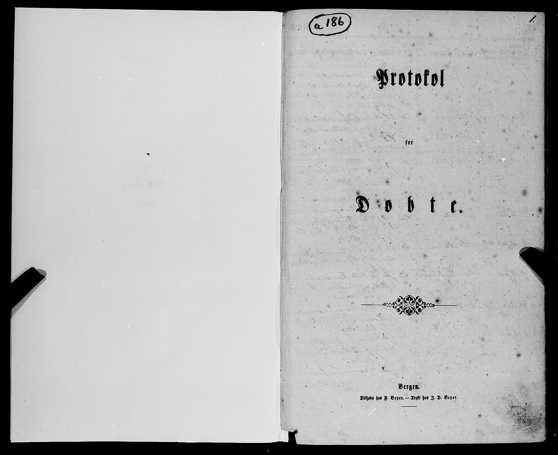 SAB, Fjell sokneprestembete, H/Haa: Ministerialbok nr. A 3, 1864-1877, s. 1