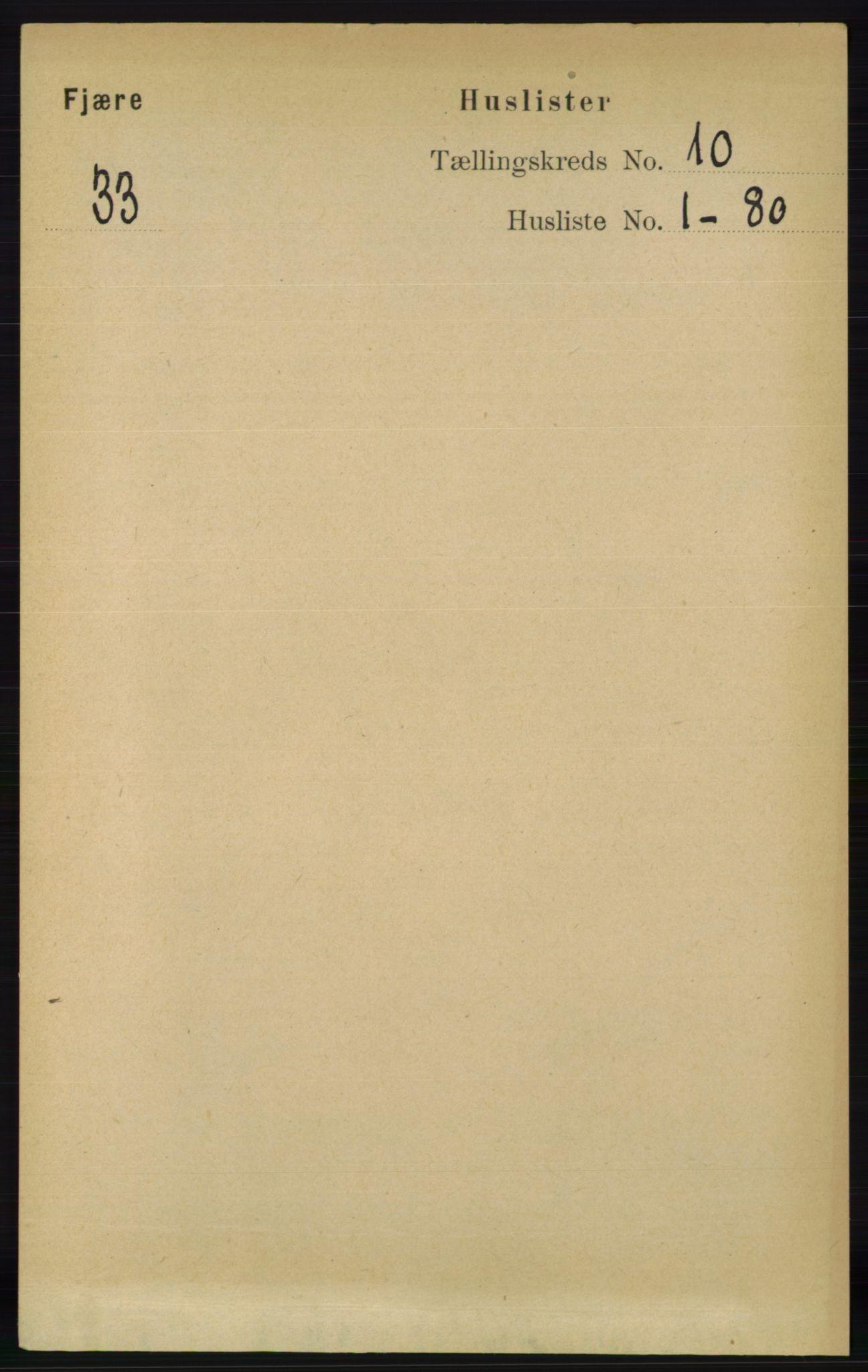 RA, Folketelling 1891 for 0923 Fjære herred, 1891, s. 4914