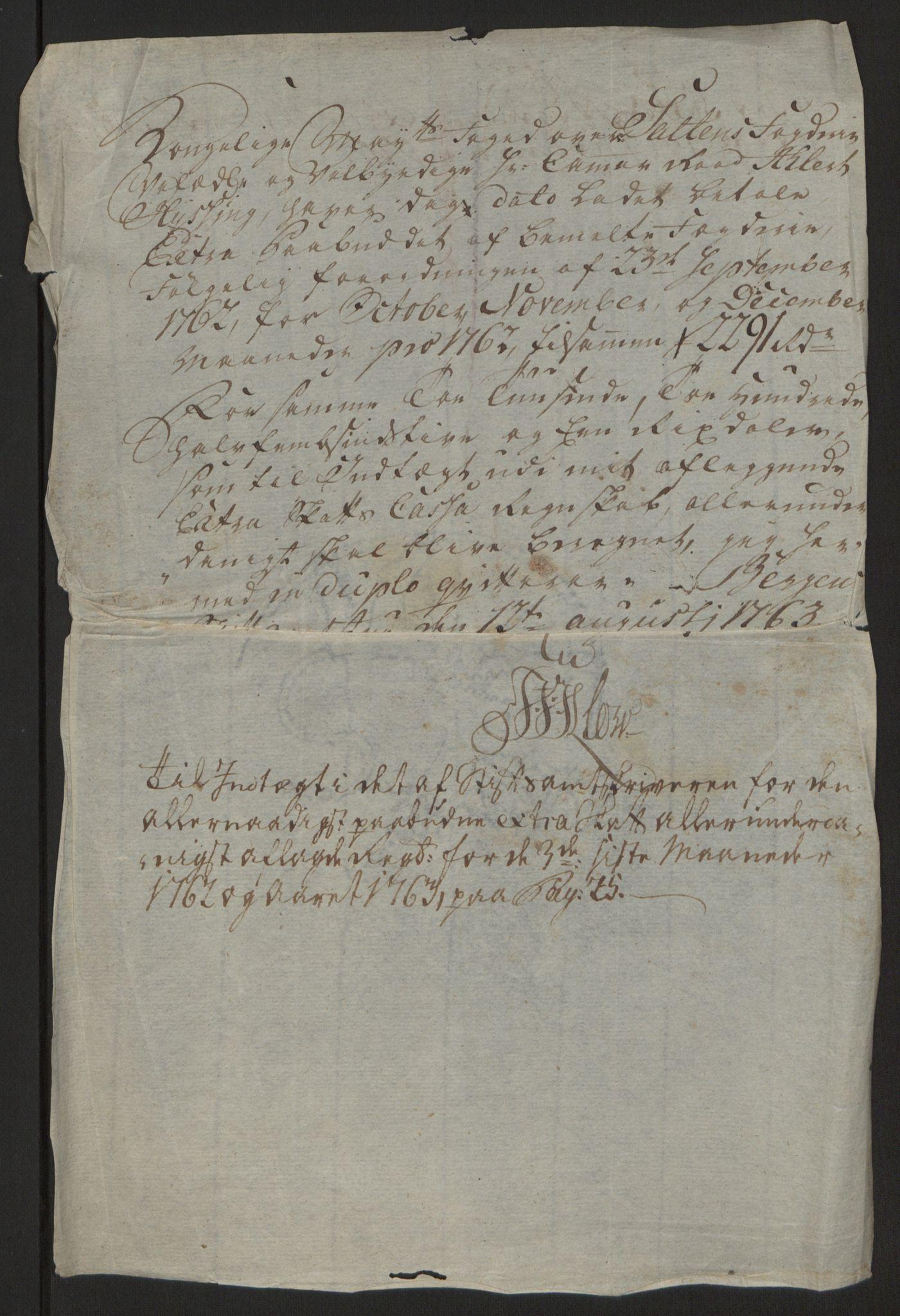 RA, Rentekammeret inntil 1814, Reviderte regnskaper, Fogderegnskap, R66/L4670: Ekstraskatten Salten, 1762-1764, s. 137