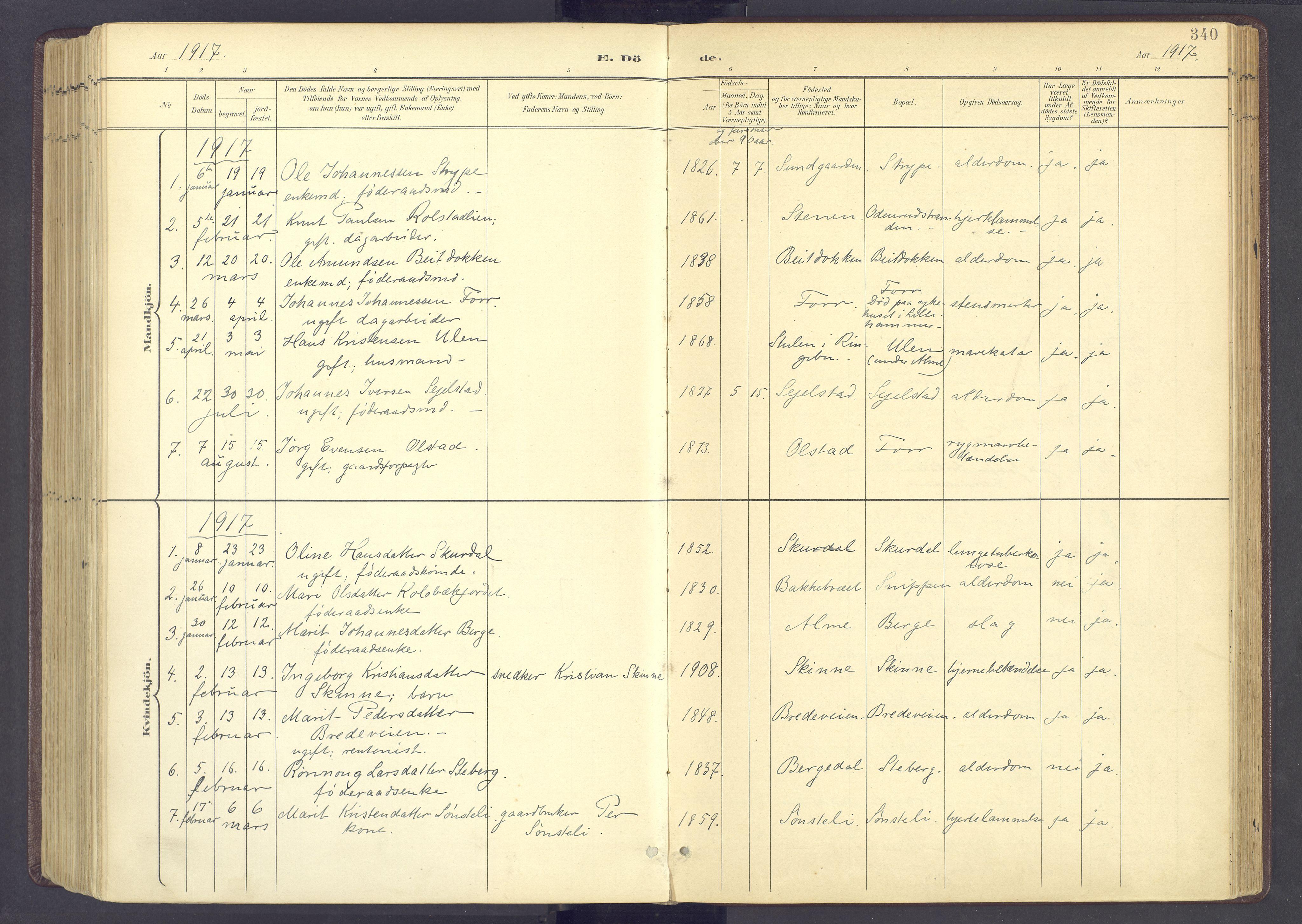 SAH, Sør-Fron prestekontor, H/Ha/Haa/L0004: Ministerialbok nr. 4, 1898-1919, s. 340