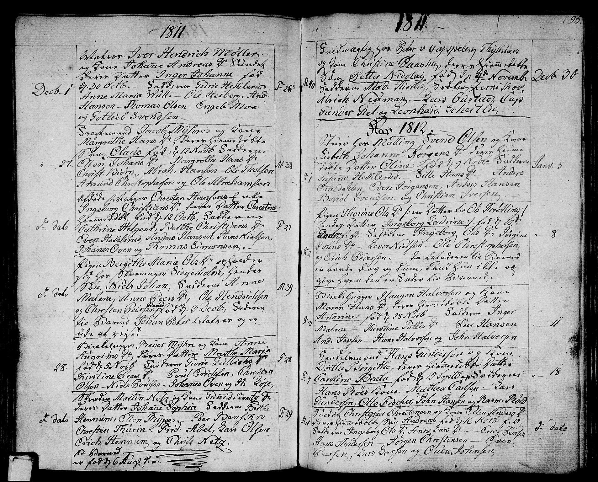SAKO, Strømsø kirkebøker, F/Fa/L0010: Ministerialbok nr. I 10, 1792-1822, s. 95