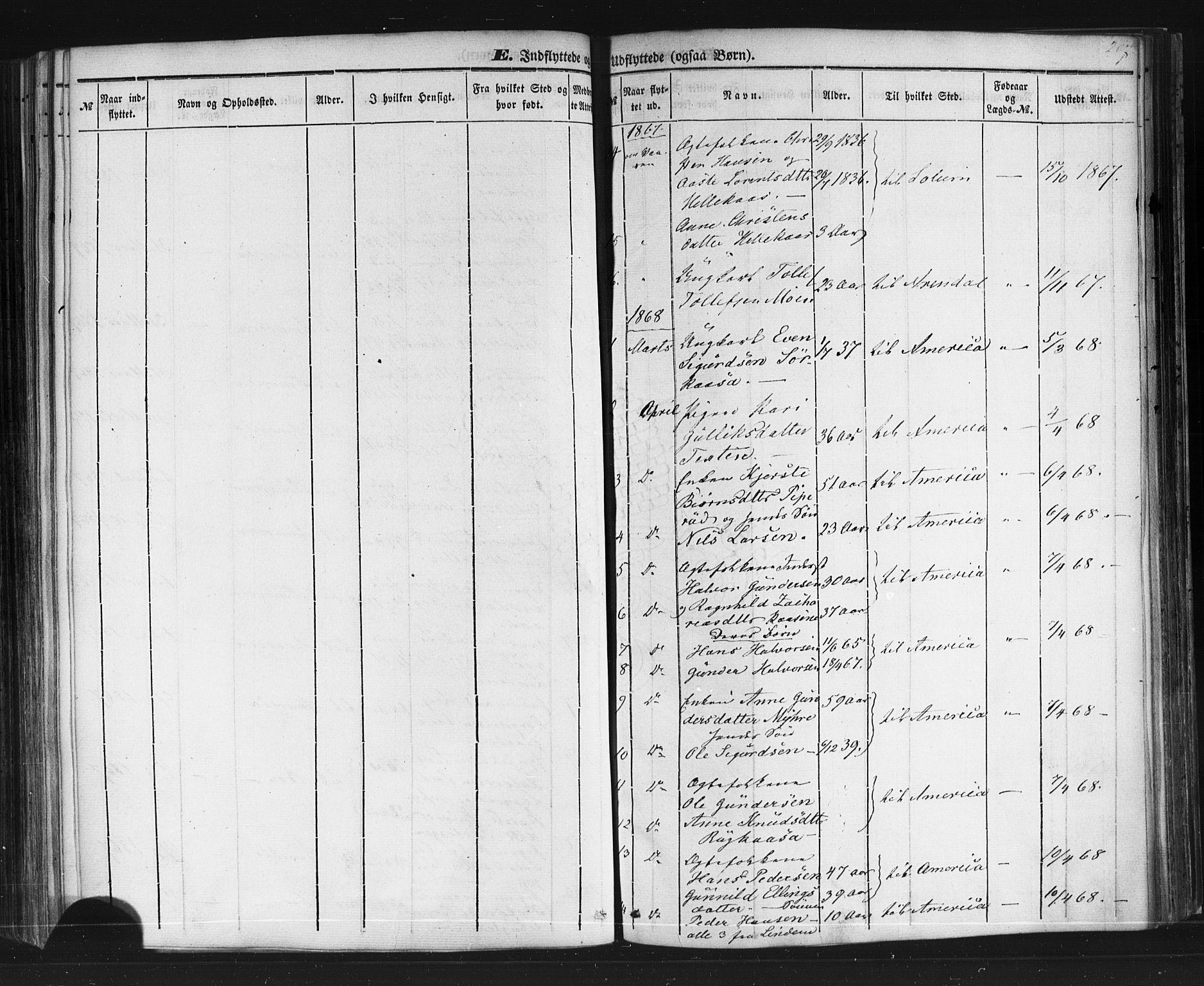 SAKO, Sauherad kirkebøker, F/Fb/L0001: Ministerialbok nr. II 1, 1851-1877, s. 207