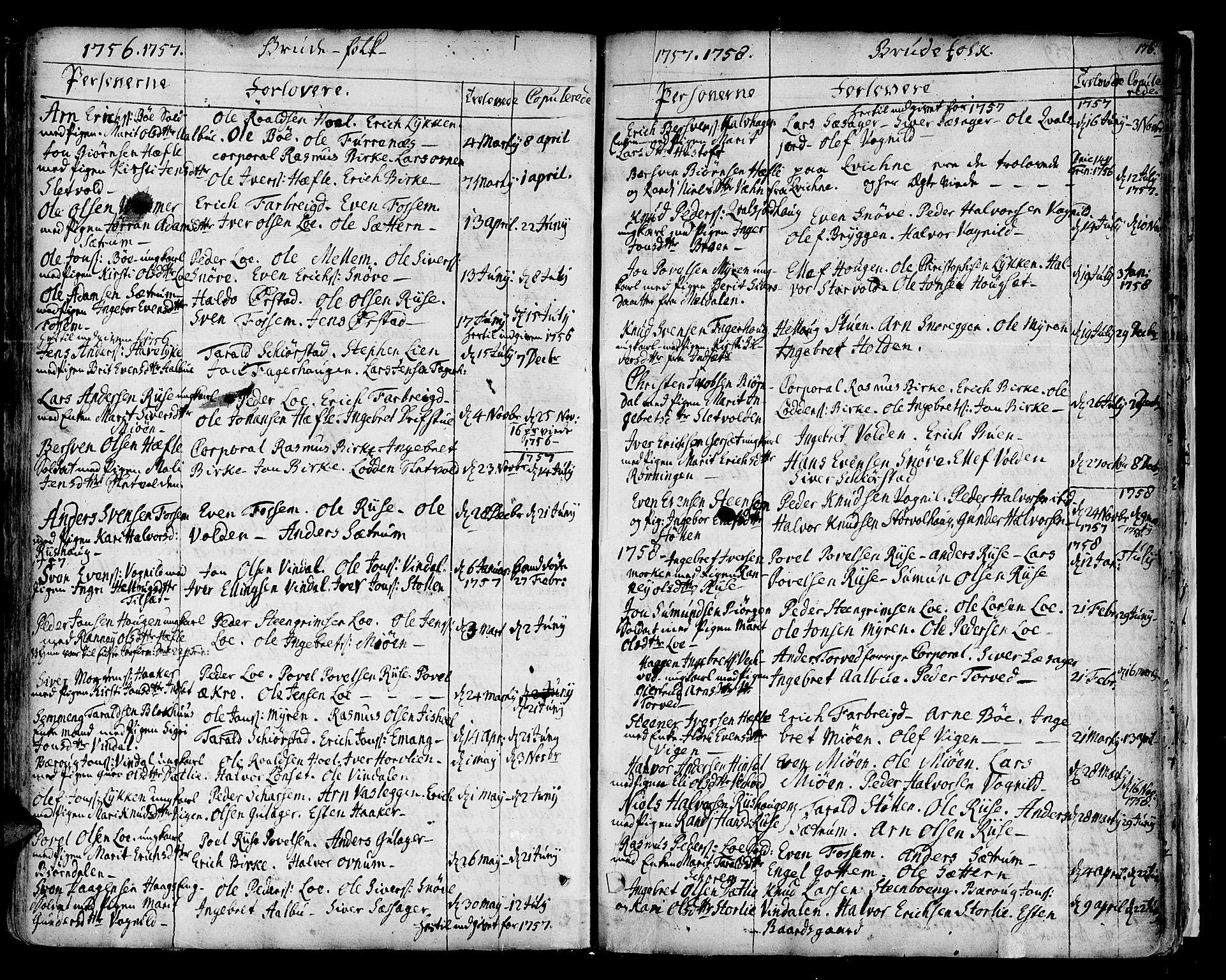 SAT, Ministerialprotokoller, klokkerbøker og fødselsregistre - Sør-Trøndelag, 678/L0891: Ministerialbok nr. 678A01, 1739-1780, s. 176