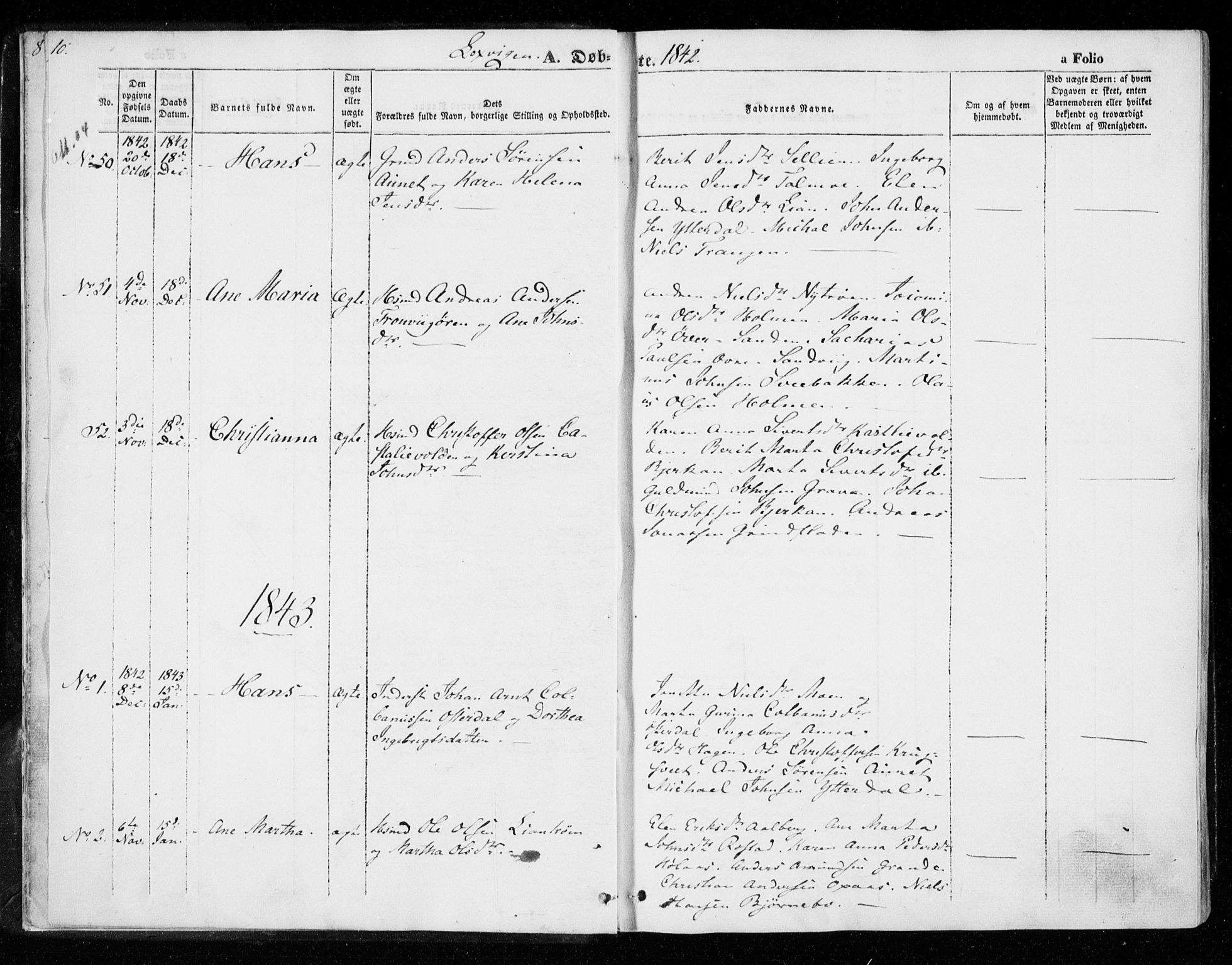 SAT, Ministerialprotokoller, klokkerbøker og fødselsregistre - Nord-Trøndelag, 701/L0007: Ministerialbok nr. 701A07 /1, 1842-1854, s. 10