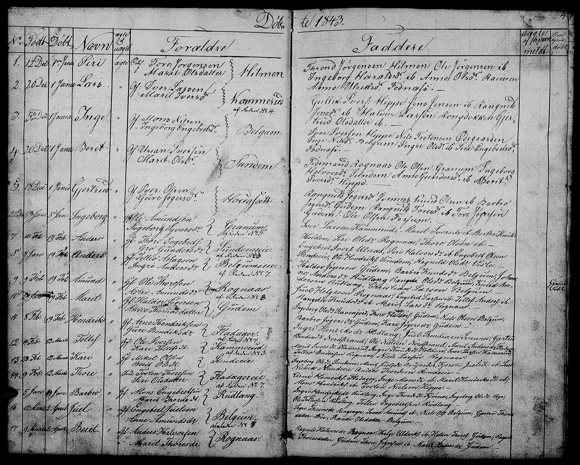 SAH, Nord-Aurdal prestekontor, Klokkerbok nr. 4, 1842-1882, s. 4