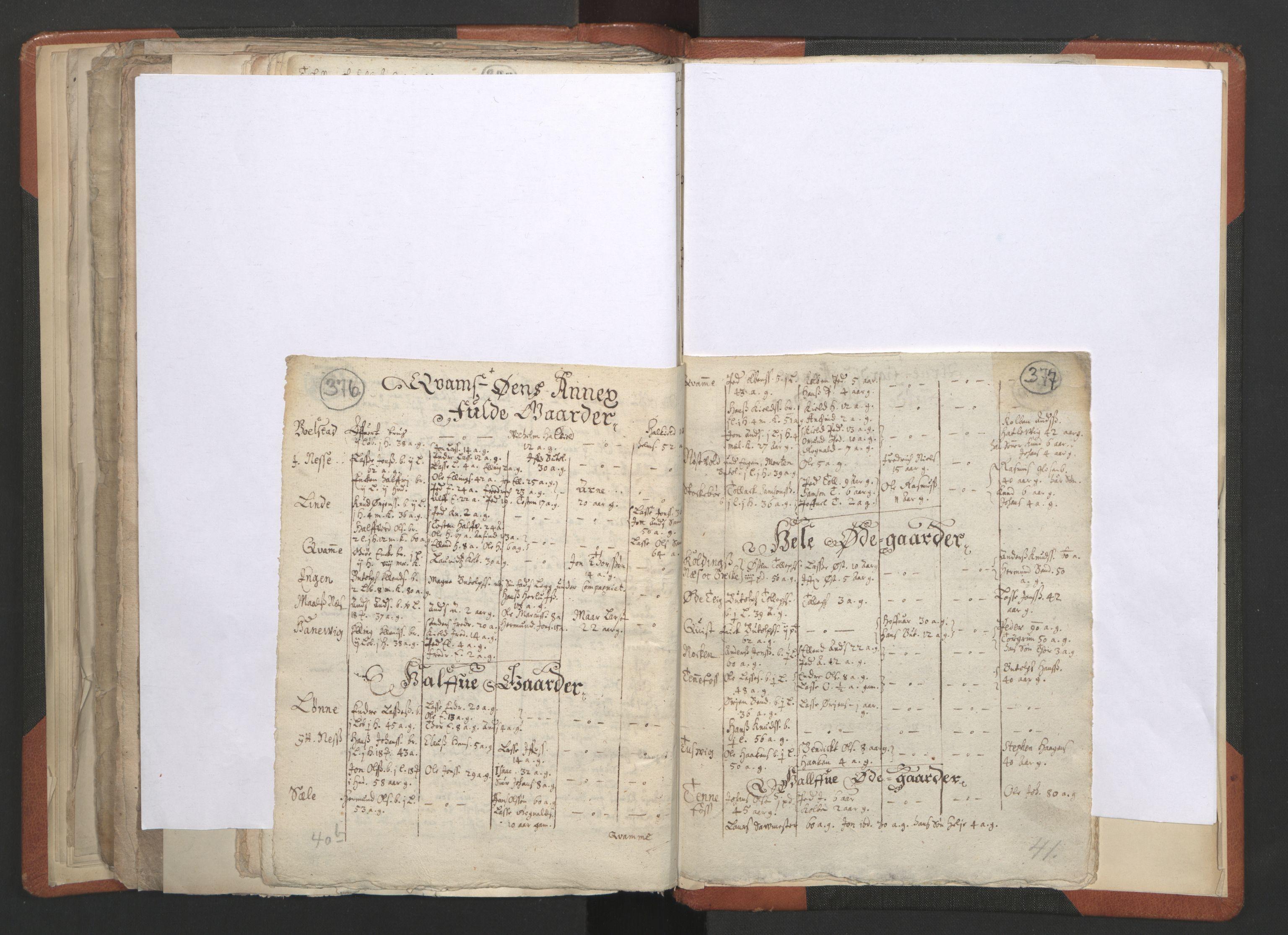 RA, Sogneprestenes manntall 1664-1666, nr. 23: Sogn prosti, 1664-1666, s. 376-377