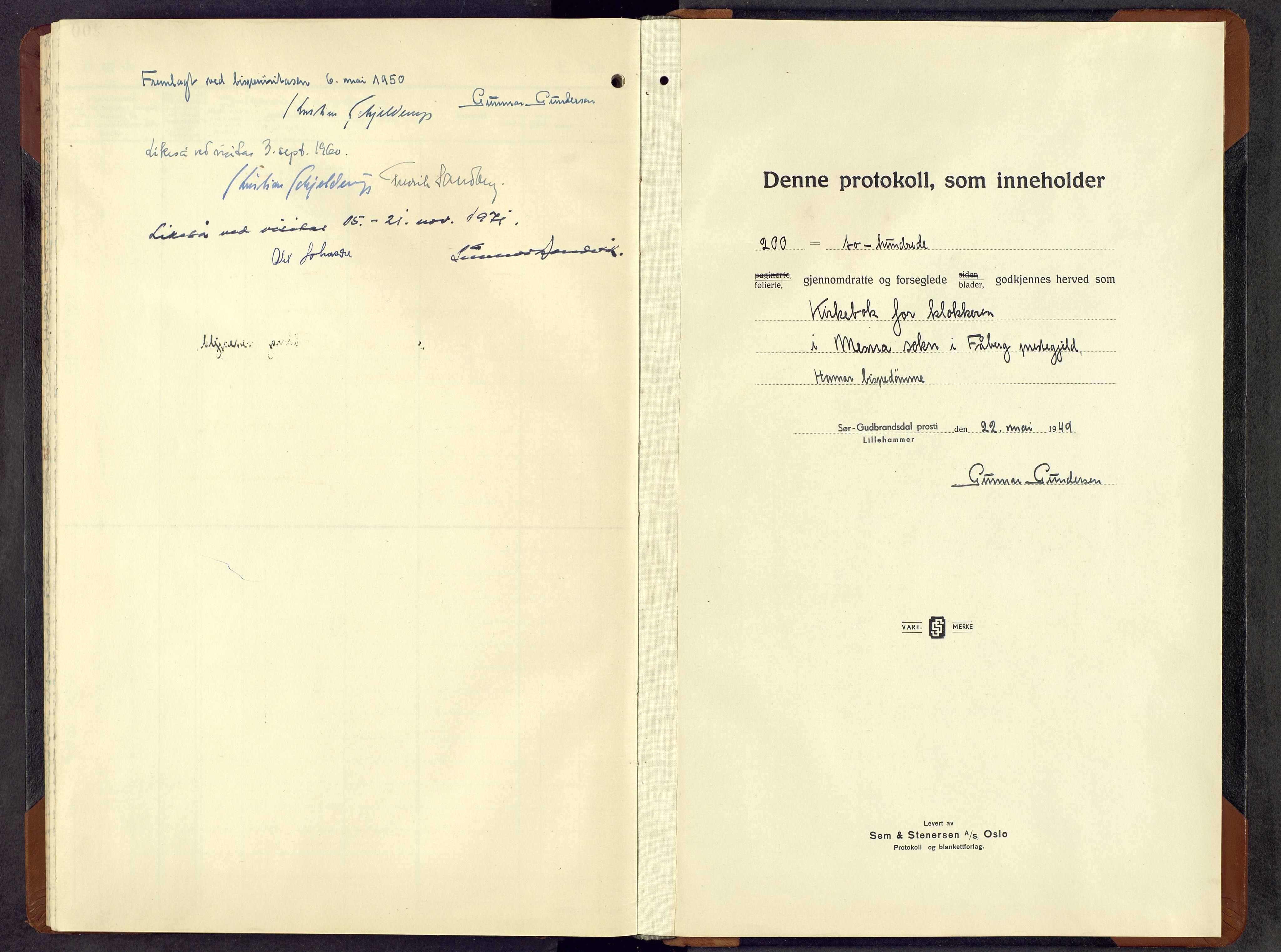 SAH, Fåberg prestekontor, H/Ha/Hab/L0019: Klokkerbok nr. 19, 1949-1968
