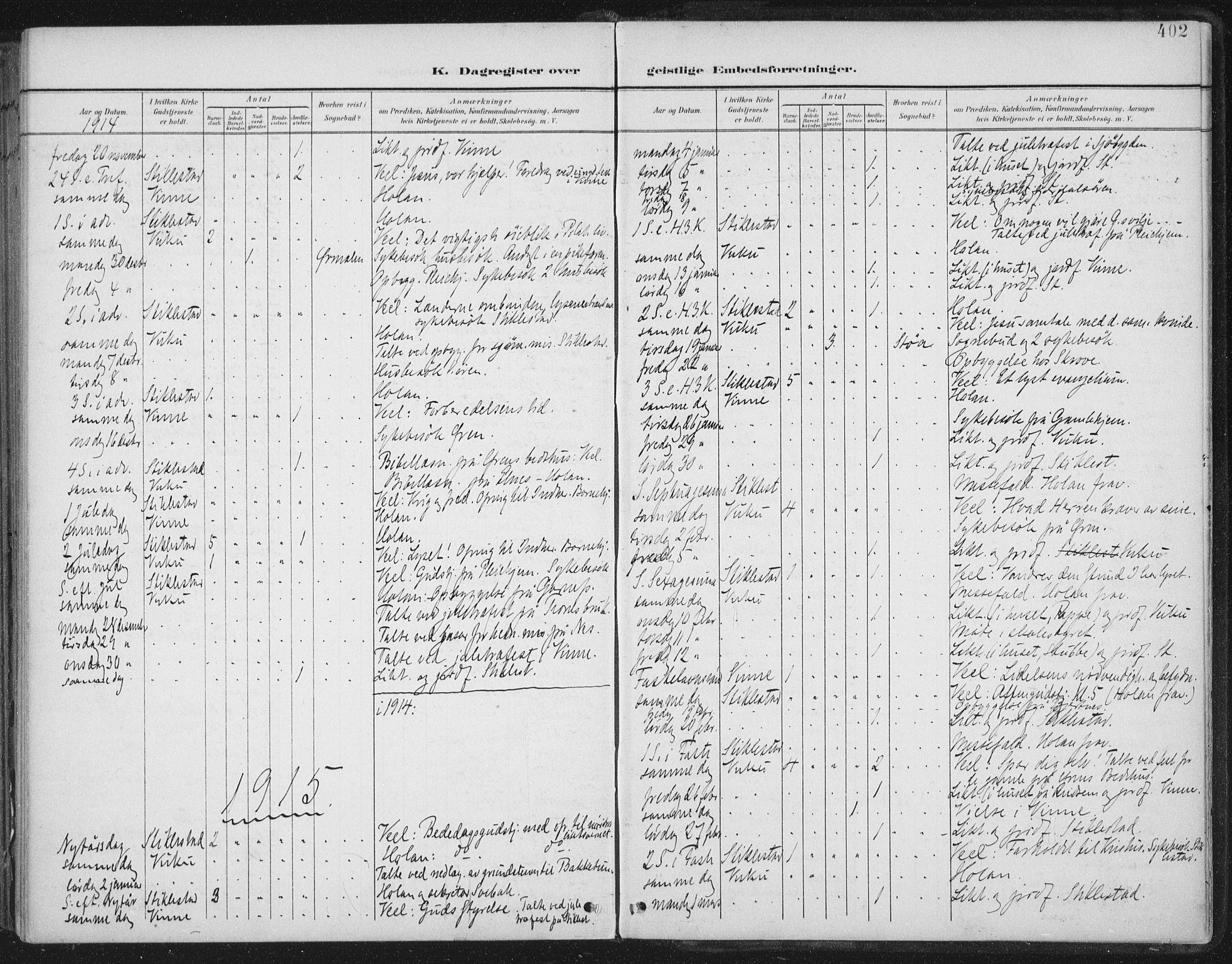 SAT, Ministerialprotokoller, klokkerbøker og fødselsregistre - Nord-Trøndelag, 723/L0246: Ministerialbok nr. 723A15, 1900-1917, s. 402
