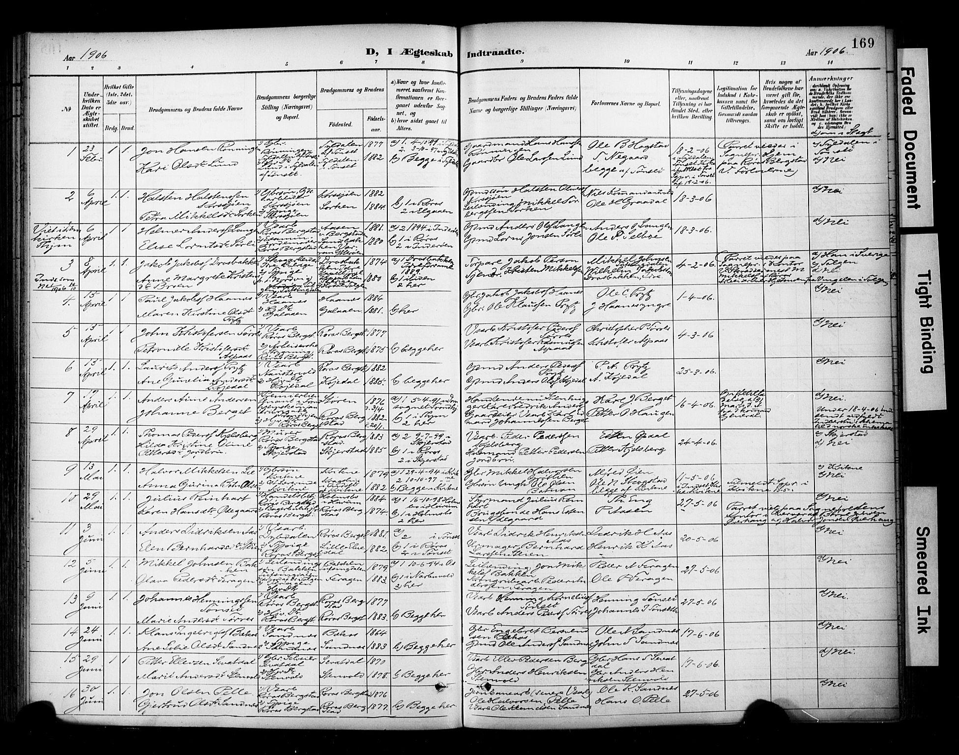 SAT, Ministerialprotokoller, klokkerbøker og fødselsregistre - Sør-Trøndelag, 681/L0936: Ministerialbok nr. 681A14, 1899-1908, s. 169