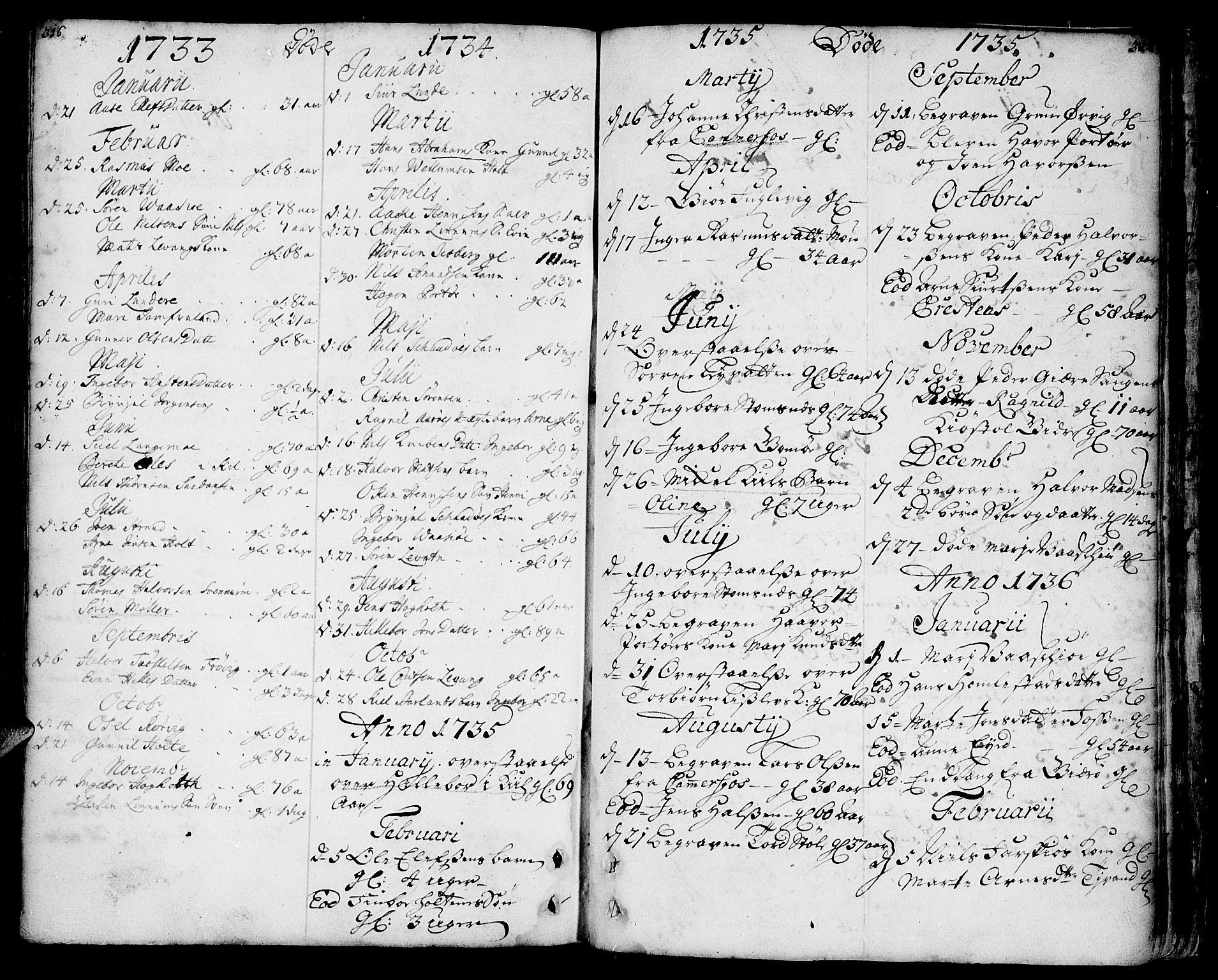 SAKO, Sannidal kirkebøker, F/Fa/L0001: Ministerialbok nr. 1, 1702-1766, s. 316-317