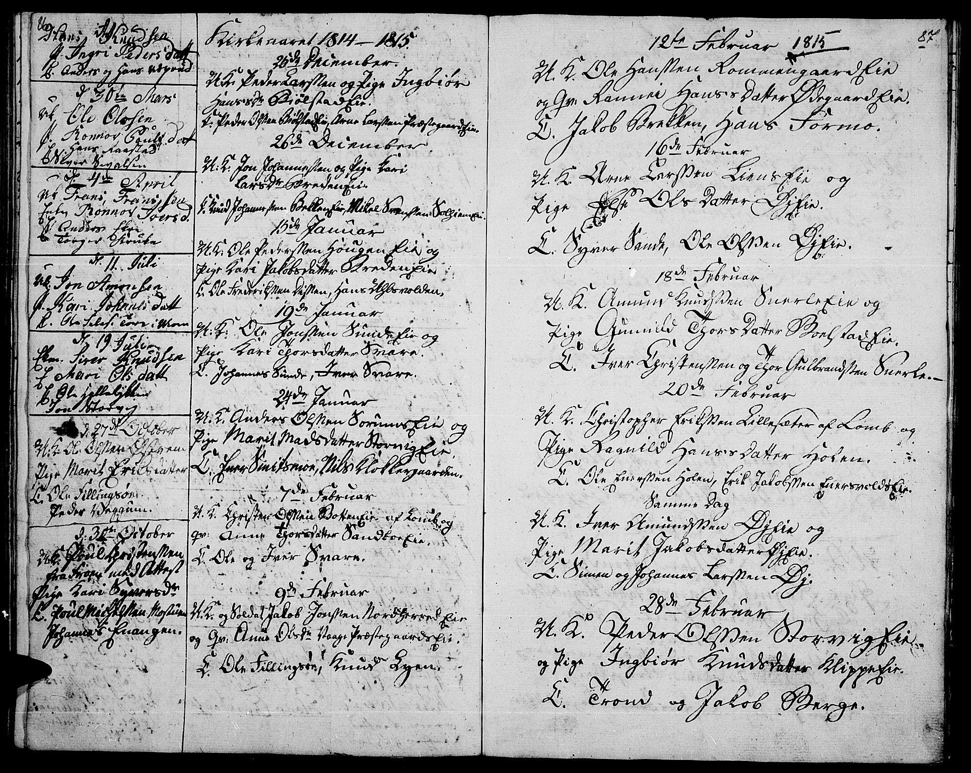 SAH, Vågå prestekontor, Ministerialbok nr. 2, 1810-1815, s. 86-87