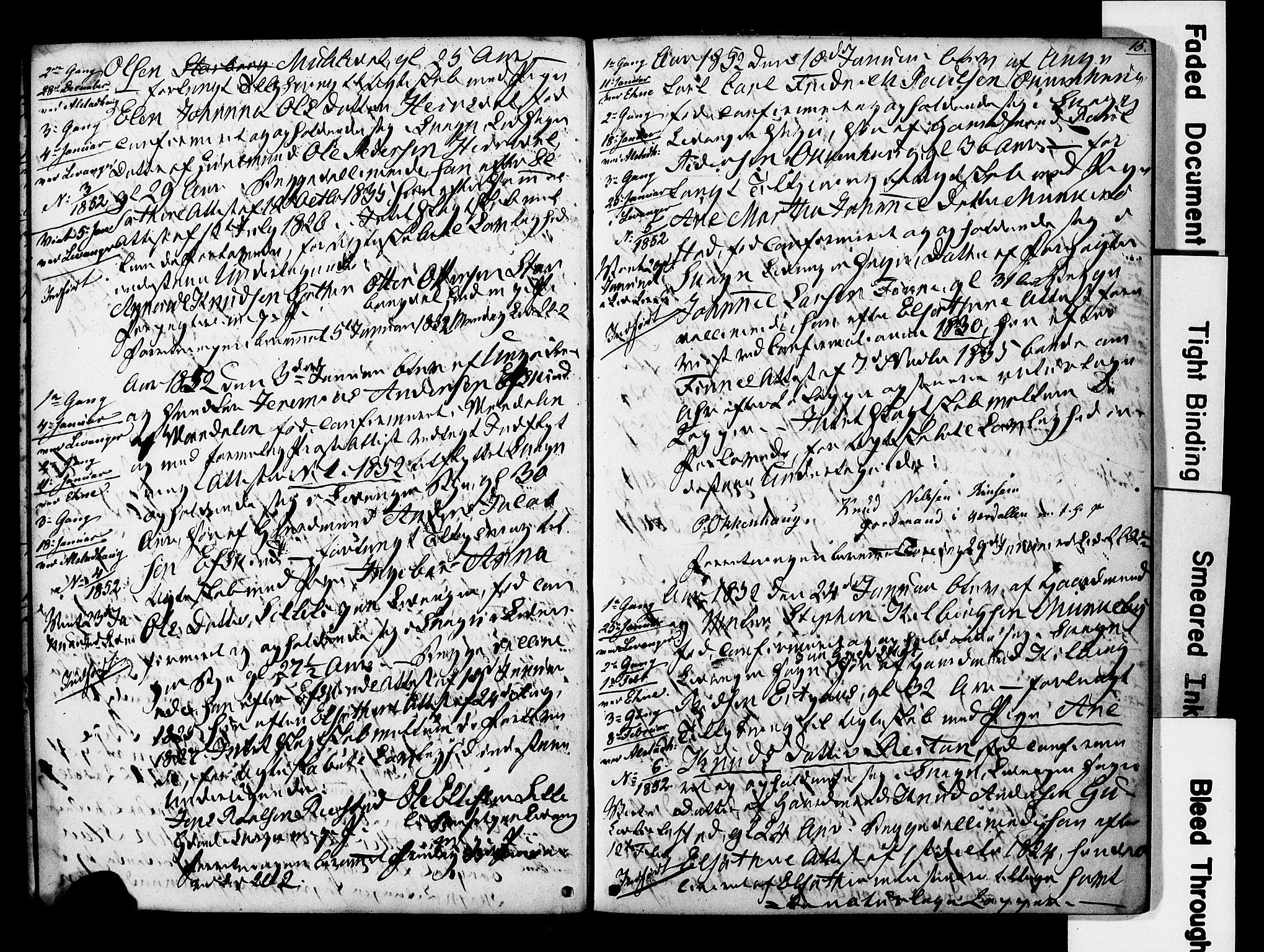 SAT, Ministerialprotokoller, klokkerbøker og fødselsregistre - Nord-Trøndelag, 717/L0161: Forlovererklæringer nr. 717A11, 1850-1895, s. 15