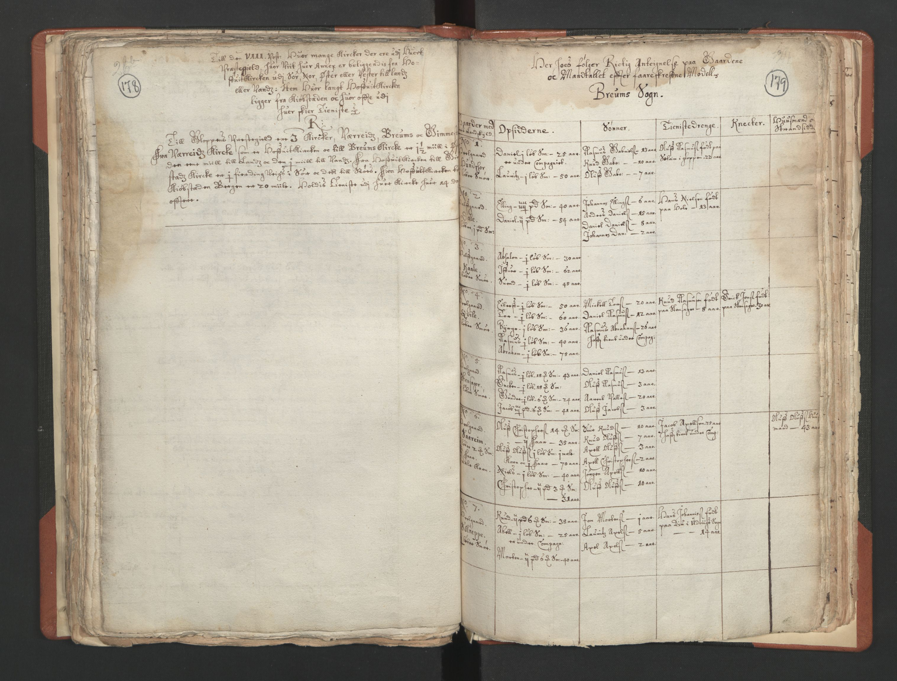RA, Sogneprestenes manntall 1664-1666, nr. 25: Nordfjord prosti, 1664-1666, s. 178-179