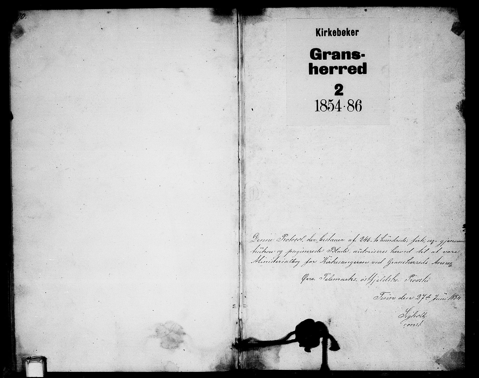 SAKO, Gransherad kirkebøker, G/Ga/L0002: Klokkerbok nr. I 2, 1854-1886, s. 490-491