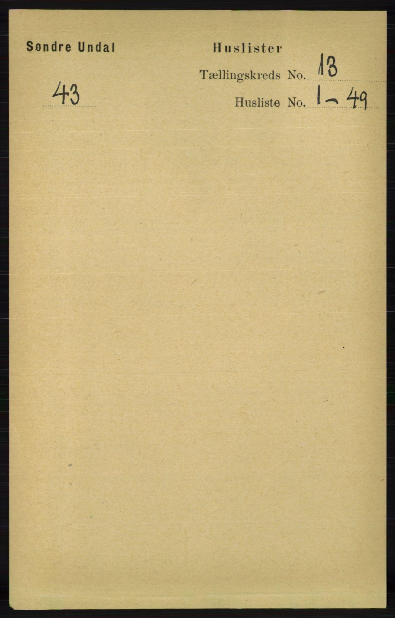 RA, Folketelling 1891 for 1029 Sør-Audnedal herred, 1891, s. 5738