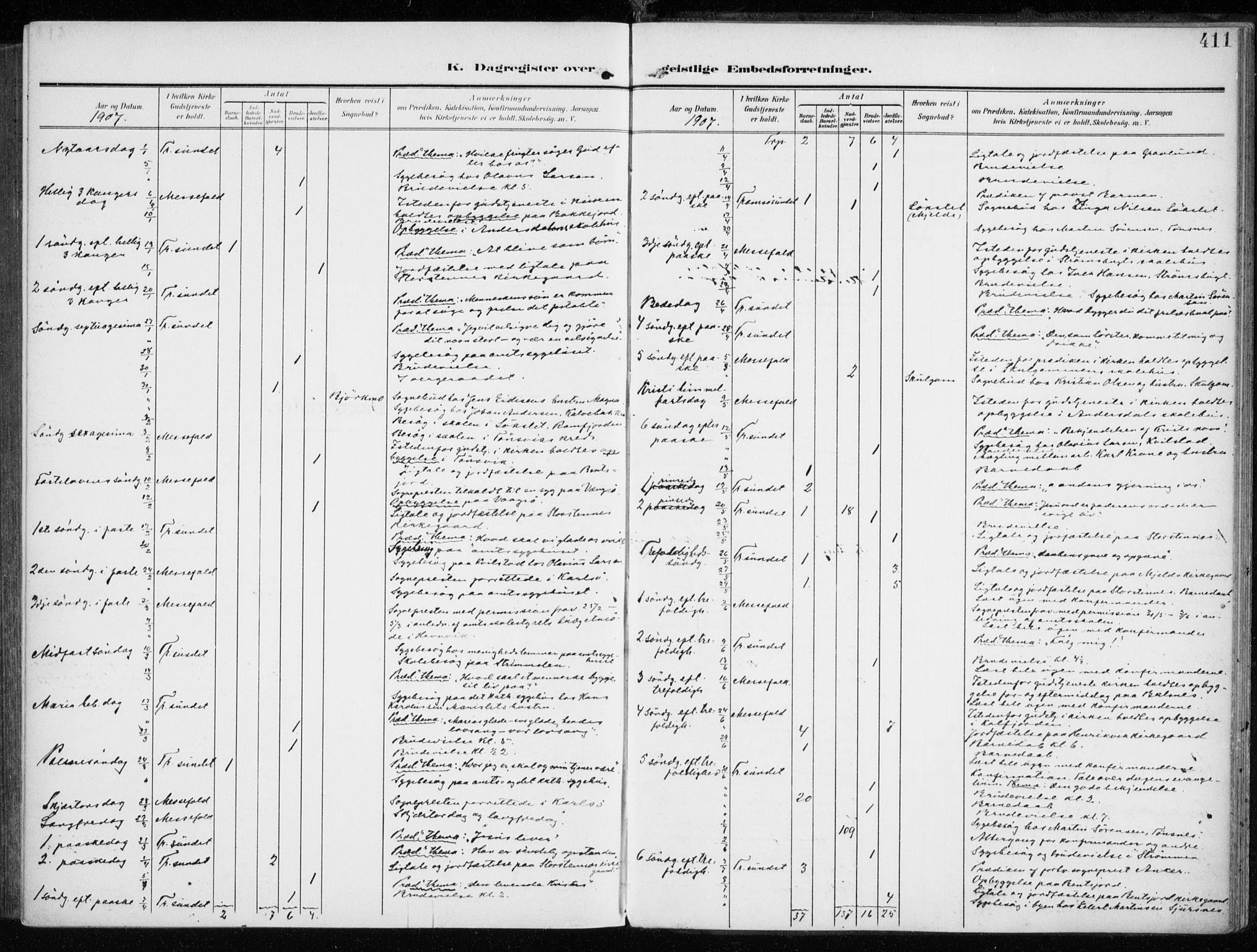 SATØ, Tromsøysund sokneprestkontor, G/Ga/L0007kirke: Ministerialbok nr. 7, 1907-1914, s. 411