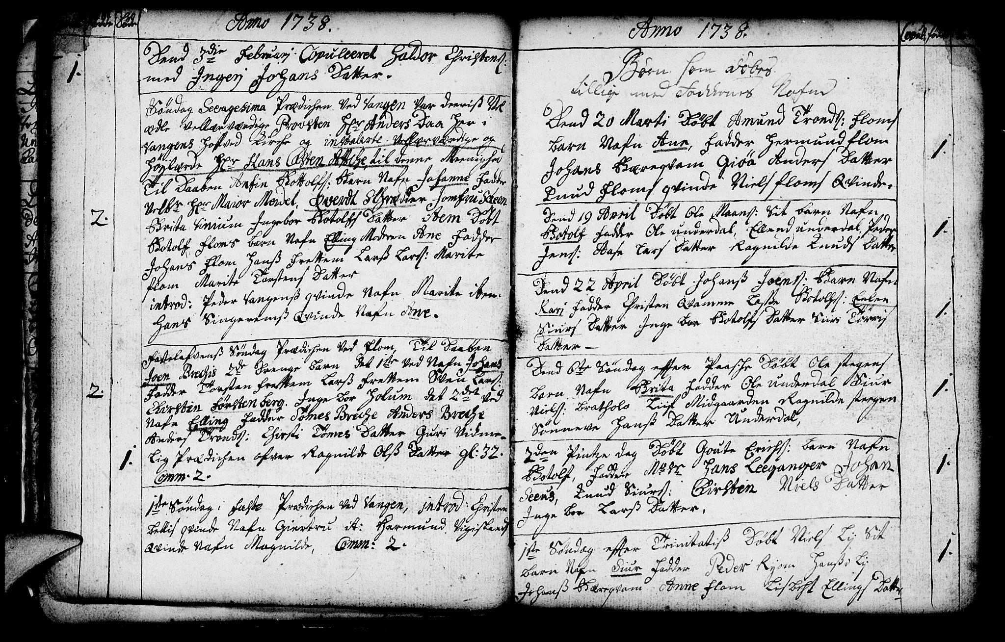 SAB, Aurland Sokneprestembete*, Ministerialbok nr. A 3, 1735-1761, s. 19