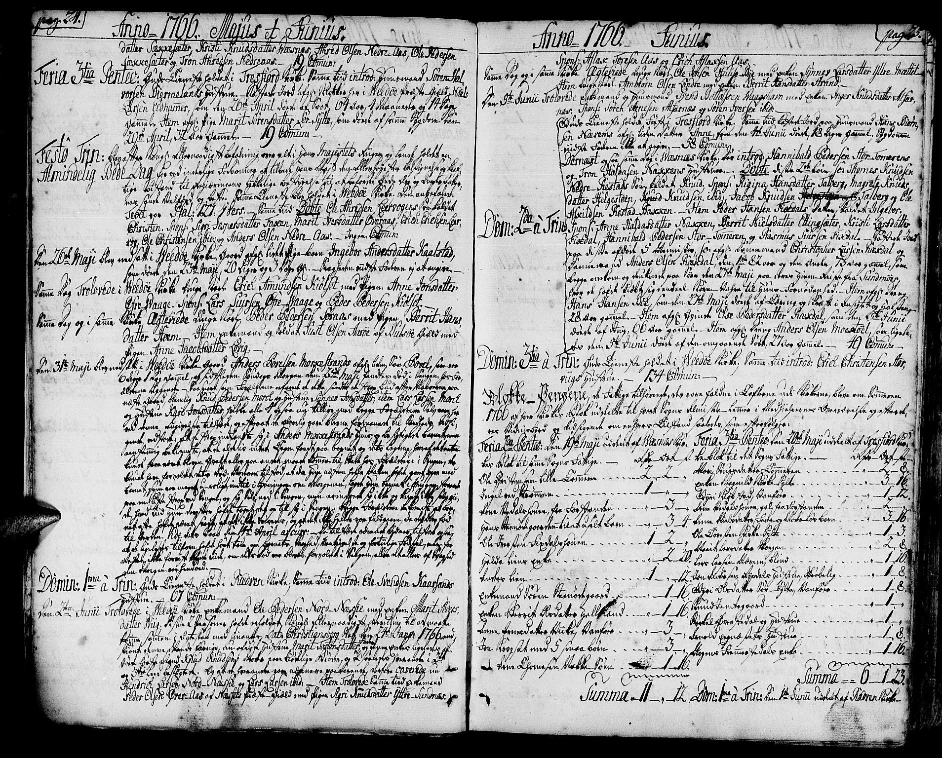 SAT, Ministerialprotokoller, klokkerbøker og fødselsregistre - Møre og Romsdal, 547/L0600: Ministerialbok nr. 547A02, 1765-1799, s. 24-25
