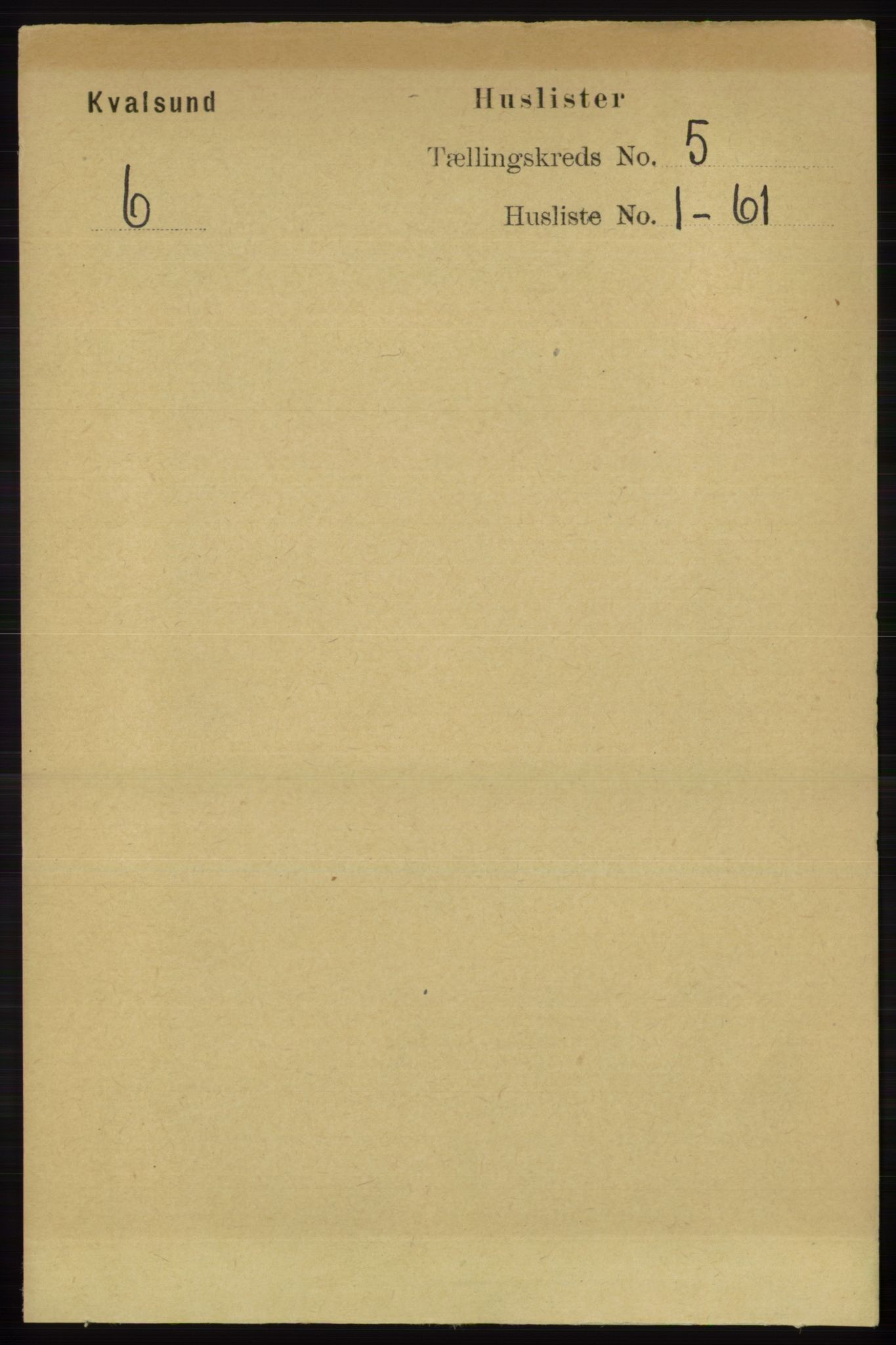 RA, Folketelling 1891 for 2017 Kvalsund herred, 1891, s. 452