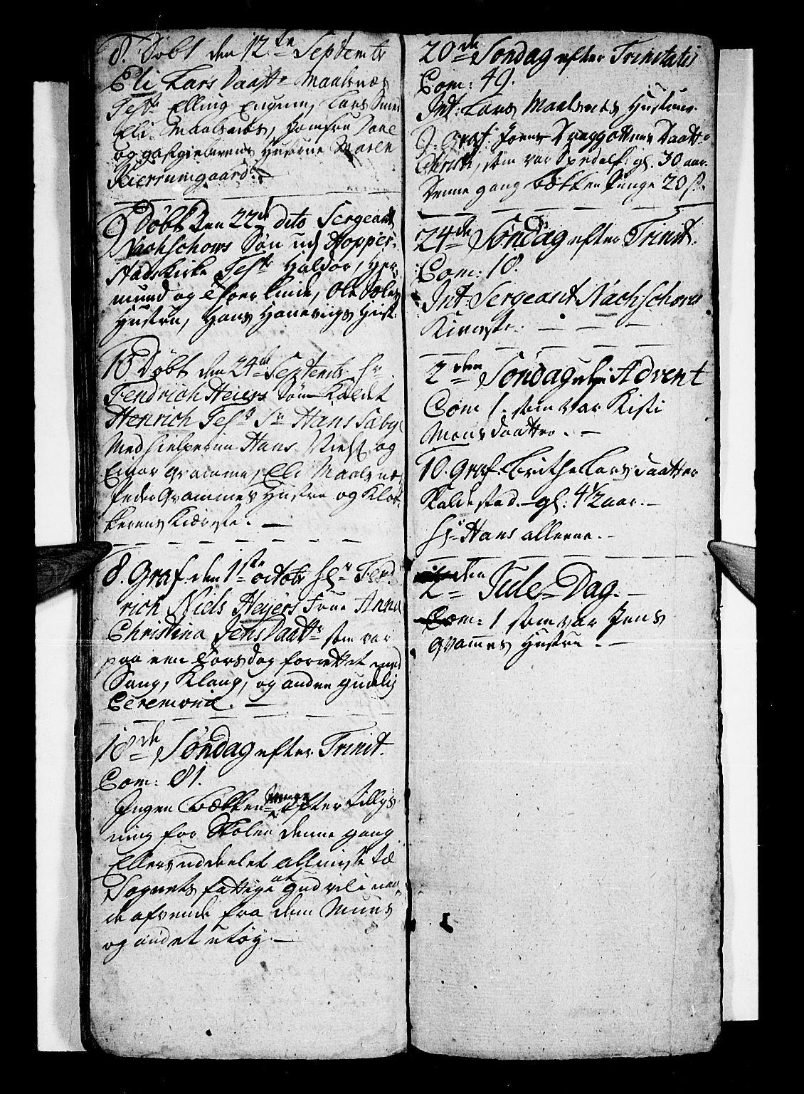 SAB, Vik Sokneprestembete, Ministerialbok nr. A 1 /4, 1727-1740