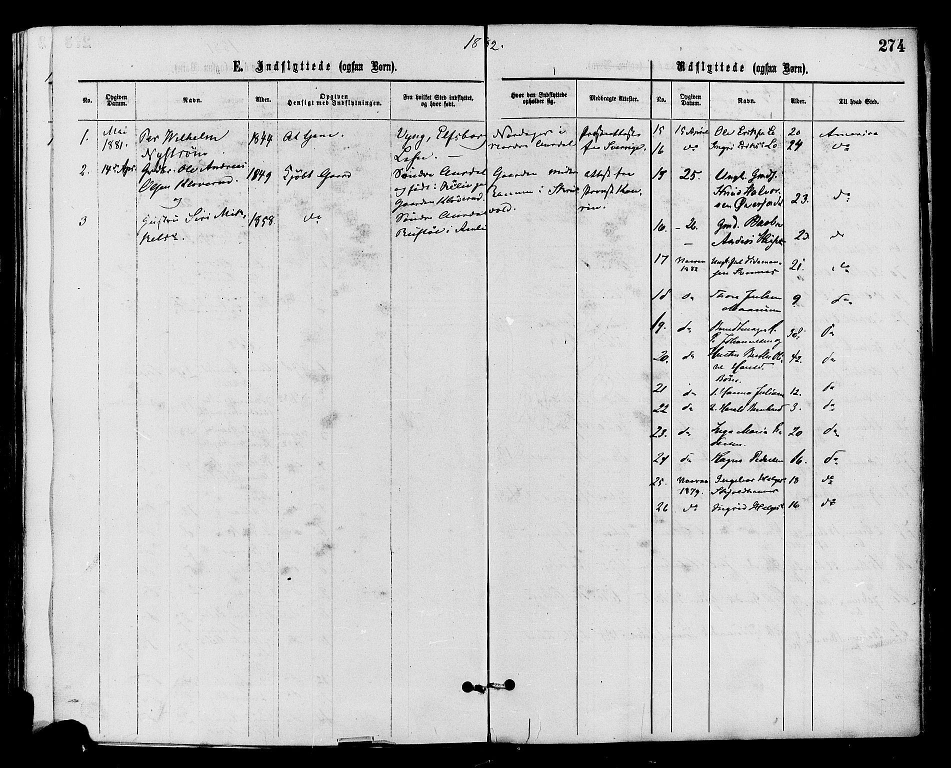 SAH, Nord-Aurdal prestekontor, Ministerialbok nr. 9, 1876-1882, s. 274