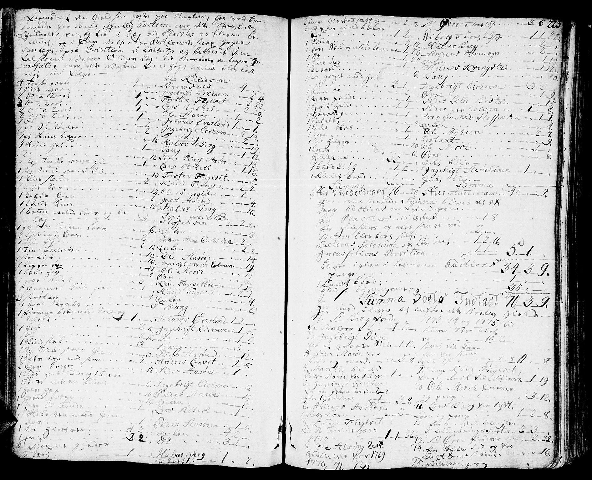 SAT, Romsdal sorenskriveri, 3/3A/L0010: Skifteprotokoll, 1774-1782, s. 222b-223a