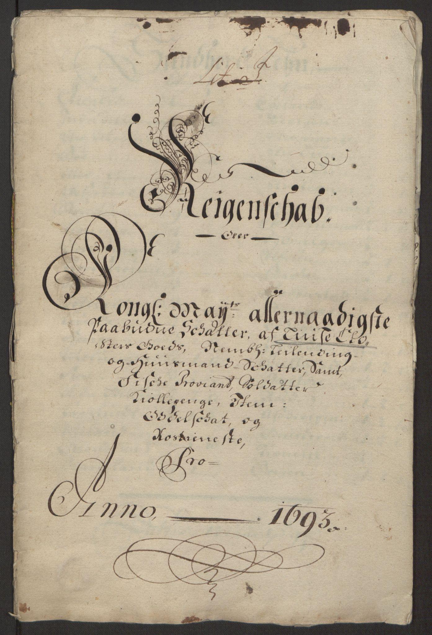 RA, Rentekammeret inntil 1814, Reviderte regnskaper, Fogderegnskap, R50/L3159: Fogderegnskap Lyse kloster, 1691-1709, s. 15