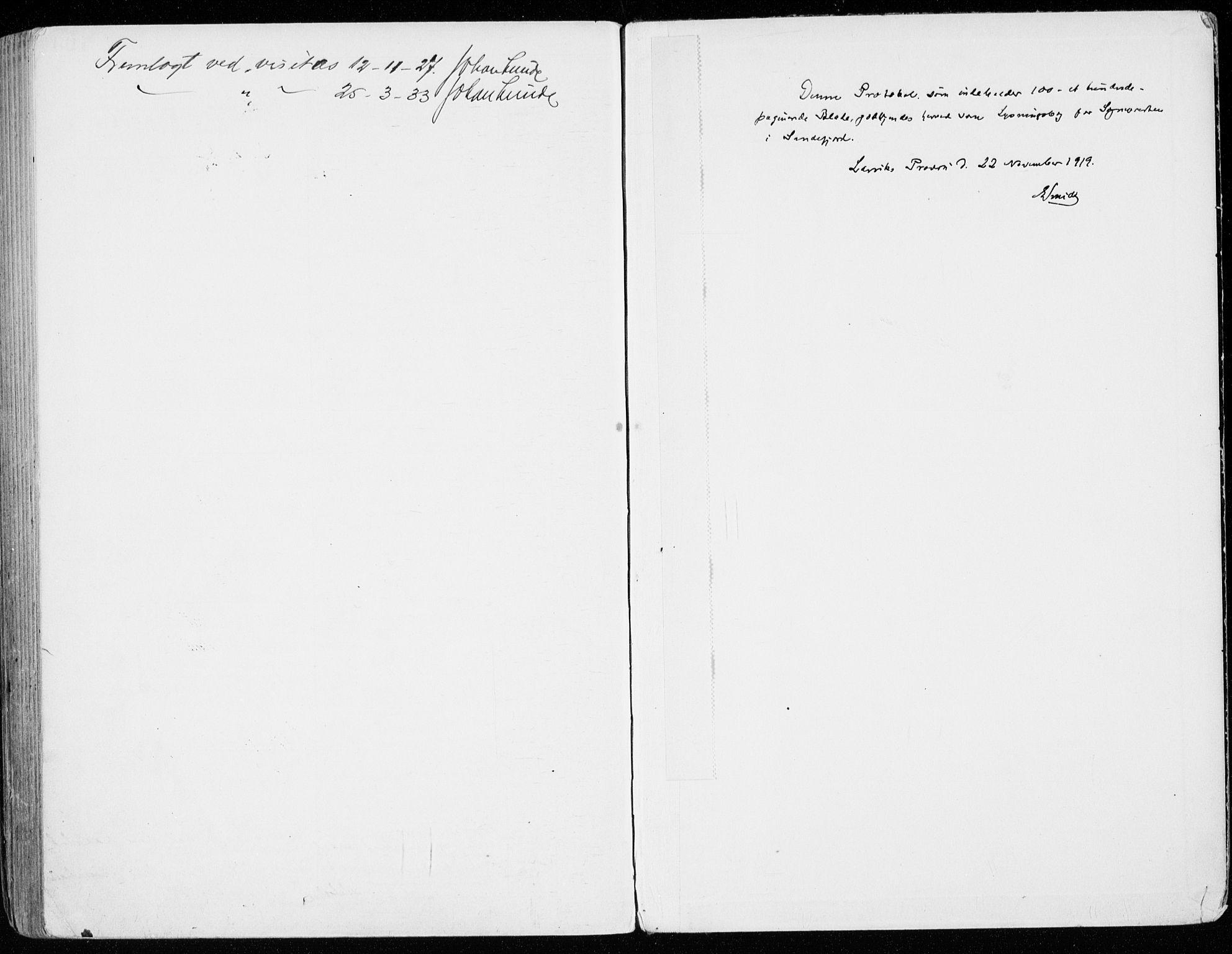 SAKO, Sandefjord kirkebøker, H/Ha/L0001: Lysningsprotokoll nr. 1, 1919-1939