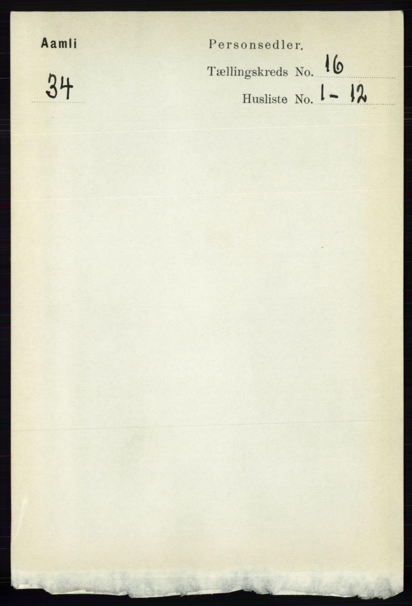 RA, Folketelling 1891 for 0929 Åmli herred, 1891, s. 2684