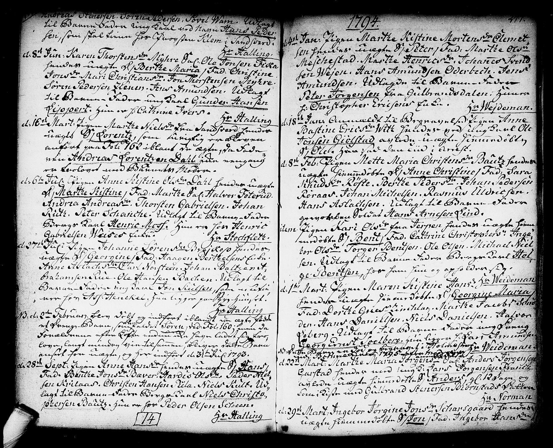 SAKO, Kongsberg kirkebøker, F/Fa/L0006: Ministerialbok nr. I 6, 1783-1797, s. 247