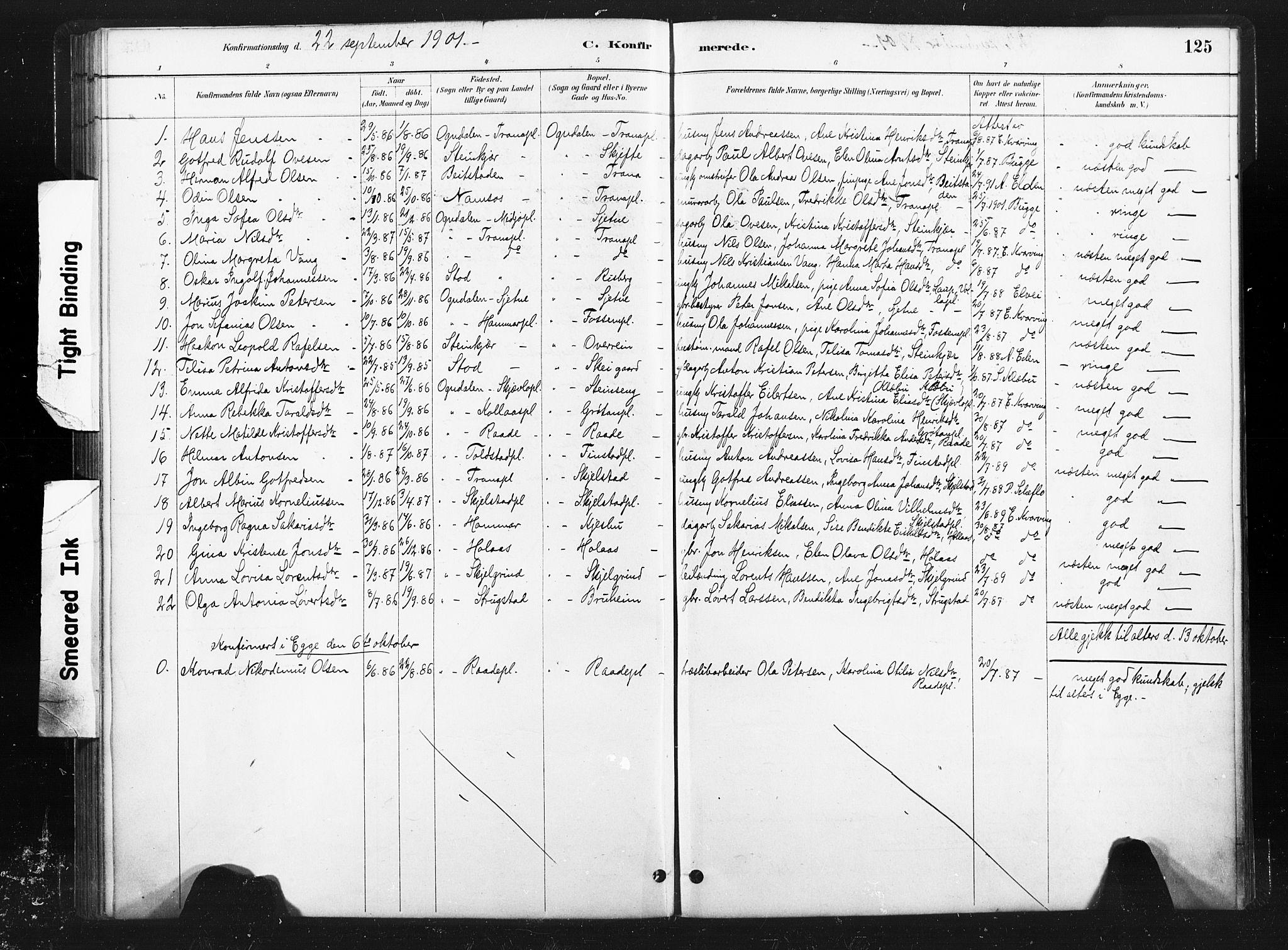 SAT, Ministerialprotokoller, klokkerbøker og fødselsregistre - Nord-Trøndelag, 736/L0361: Ministerialbok nr. 736A01, 1884-1906, s. 125