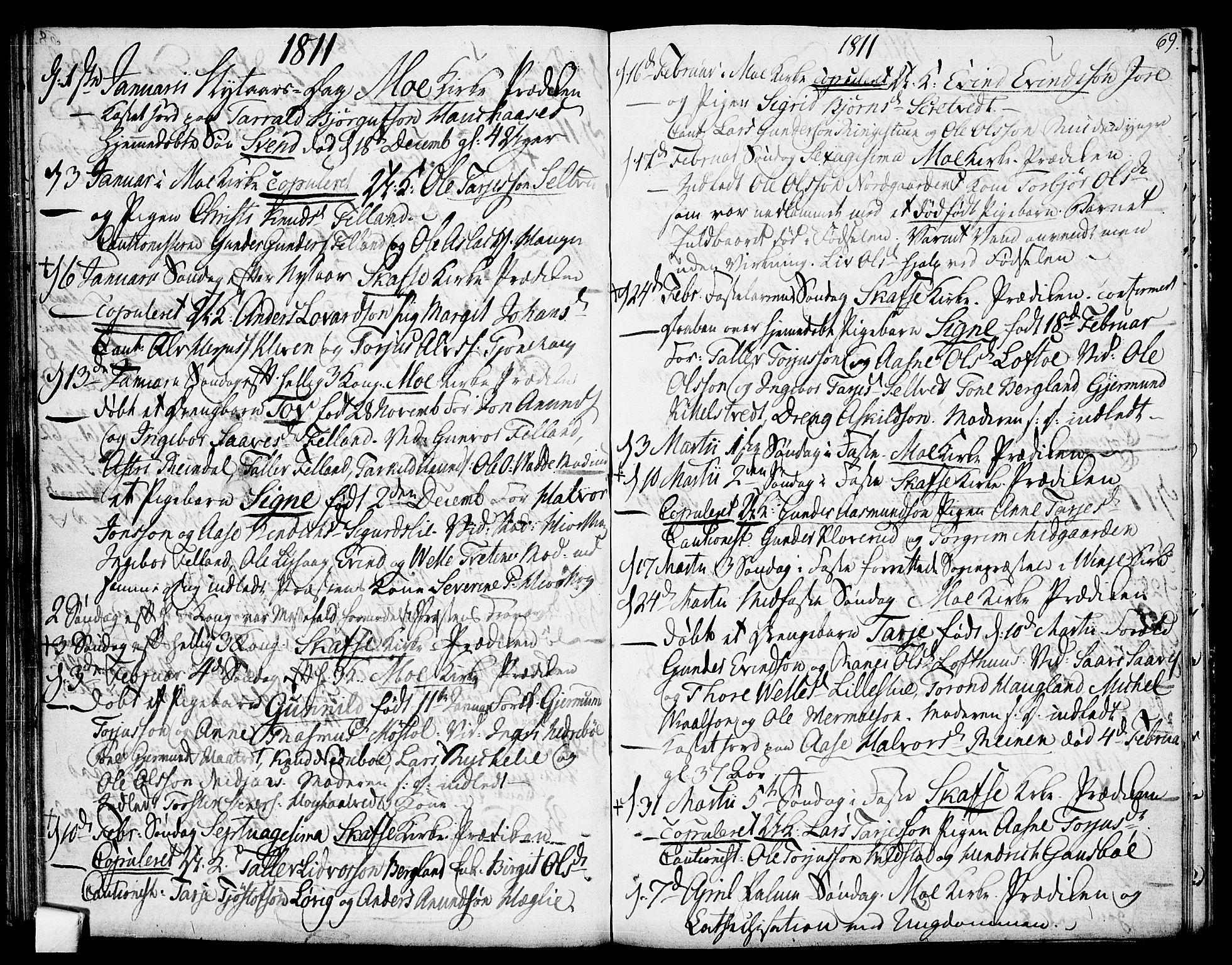 SAKO, Mo kirkebøker, F/Fa/L0003: Ministerialbok nr. I 3, 1800-1814, s. 69