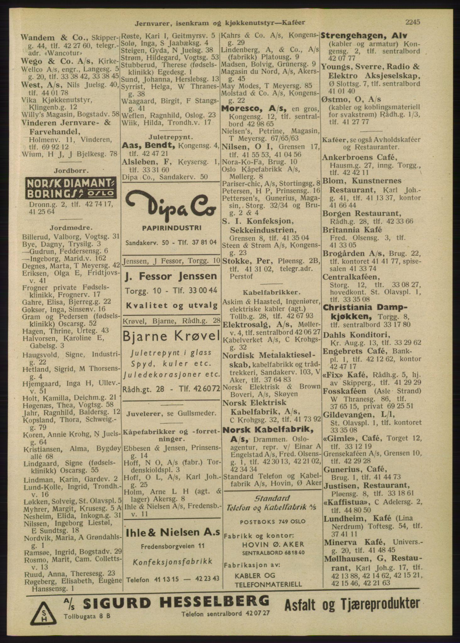 RA, Oslo adressebok (publikasjon)*, 1947, s. 2245