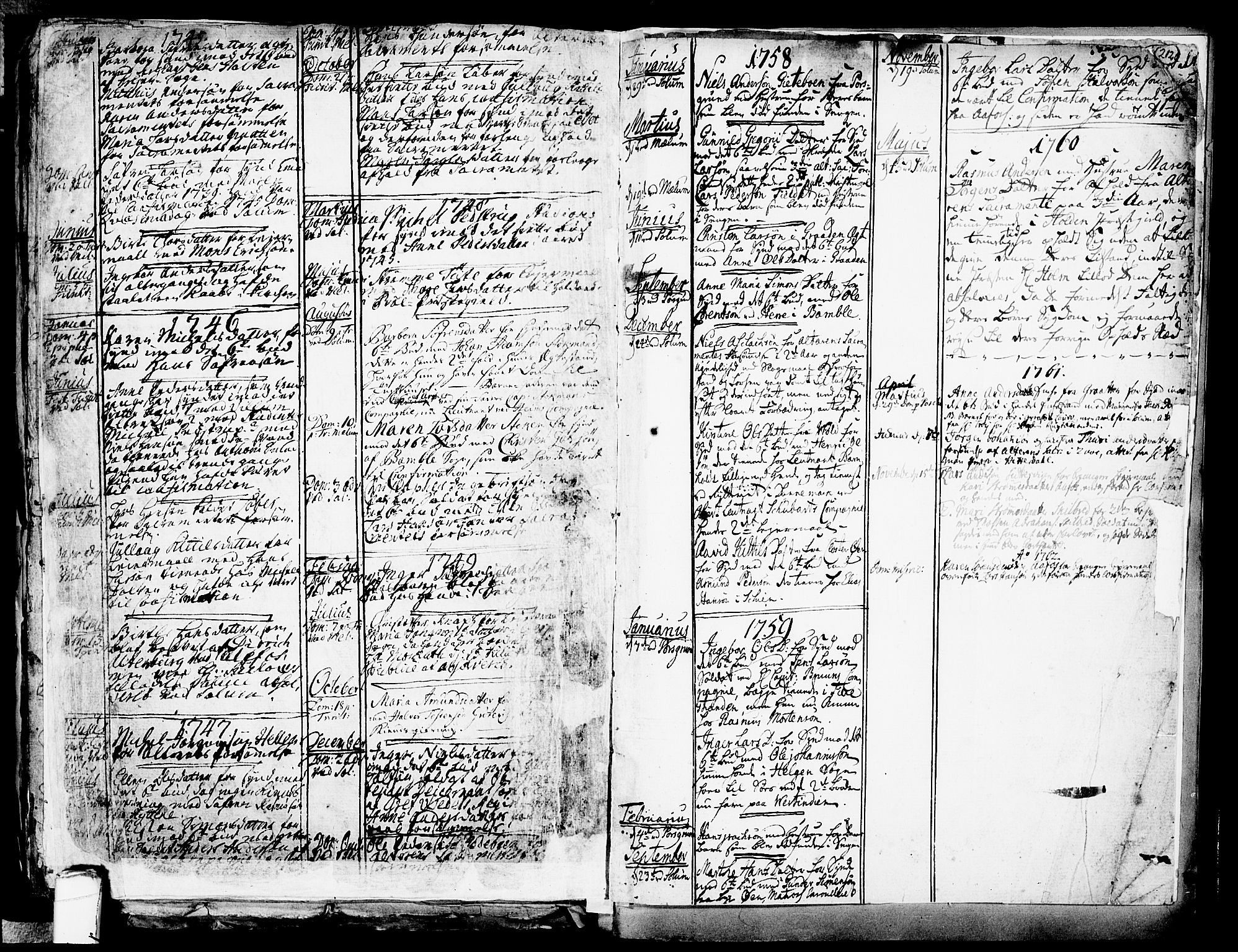 SAKO, Solum kirkebøker, F/Fa/L0002: Ministerialbok nr. I 2, 1713-1761, s. 212