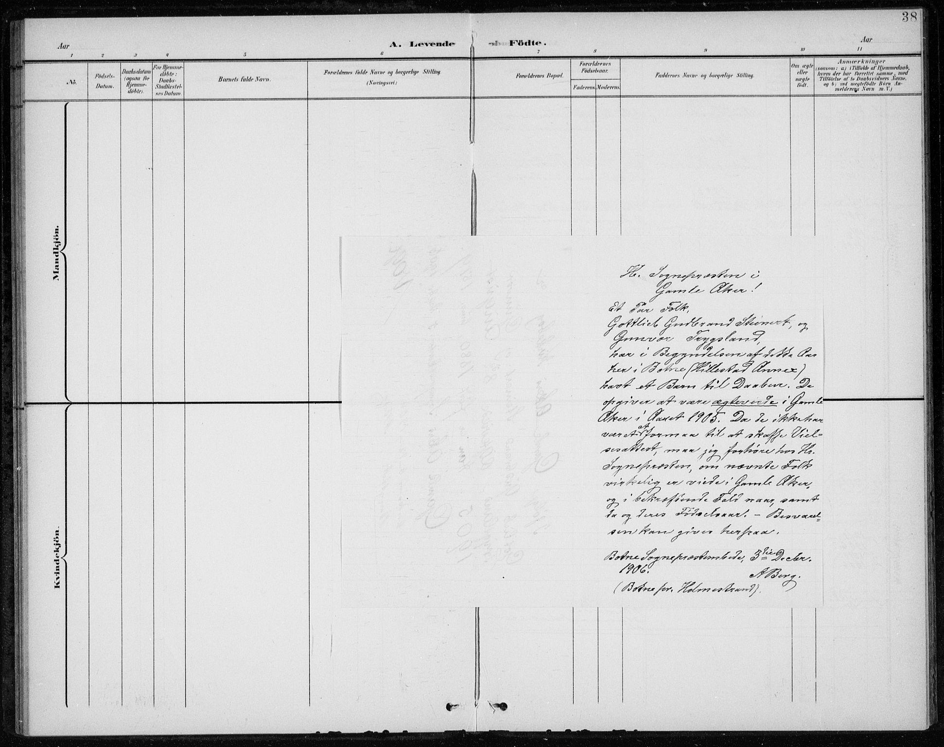 SAKO, Botne kirkebøker, F/Fb/L0002: Ministerialbok nr. II 2, 1902-1915, s. 38