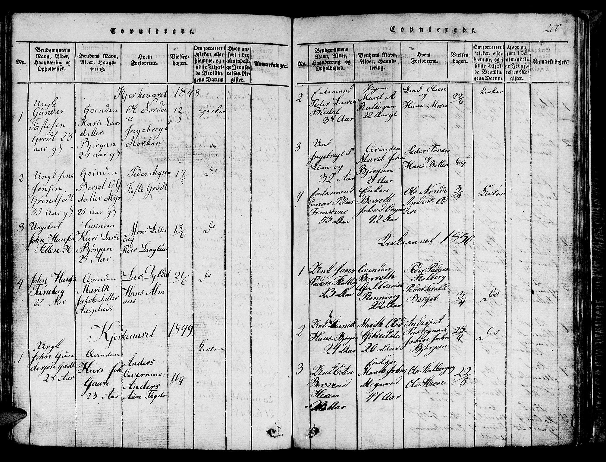 SAT, Ministerialprotokoller, klokkerbøker og fødselsregistre - Sør-Trøndelag, 685/L0976: Klokkerbok nr. 685C01, 1817-1878, s. 200