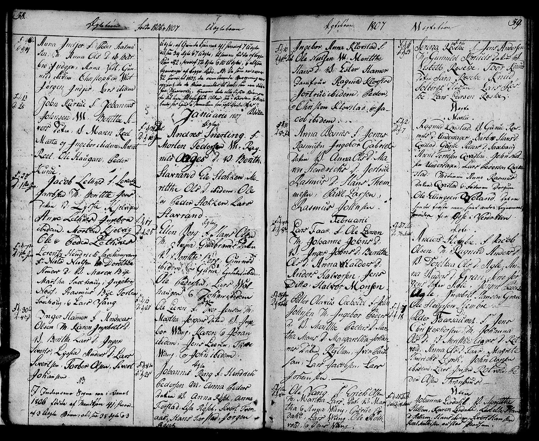 SAT, Ministerialprotokoller, klokkerbøker og fødselsregistre - Nord-Trøndelag, 730/L0274: Ministerialbok nr. 730A03, 1802-1816, s. 38-39
