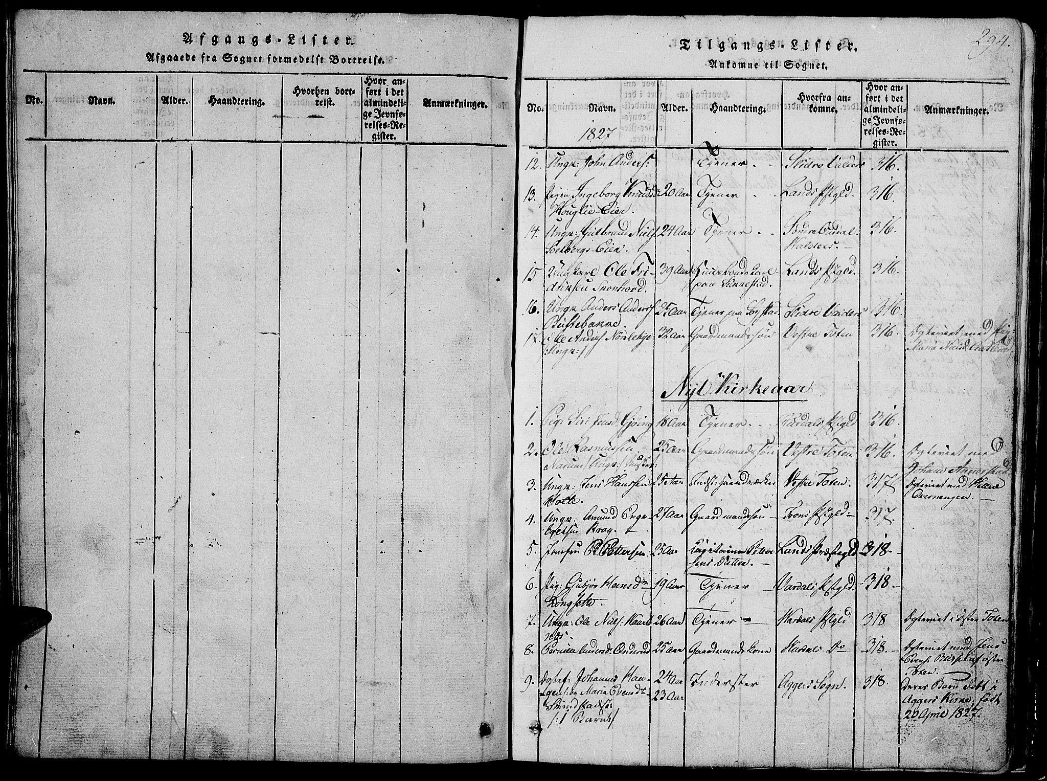 SAH, Østre Toten prestekontor, Klokkerbok nr. 1, 1827-1839, s. 294