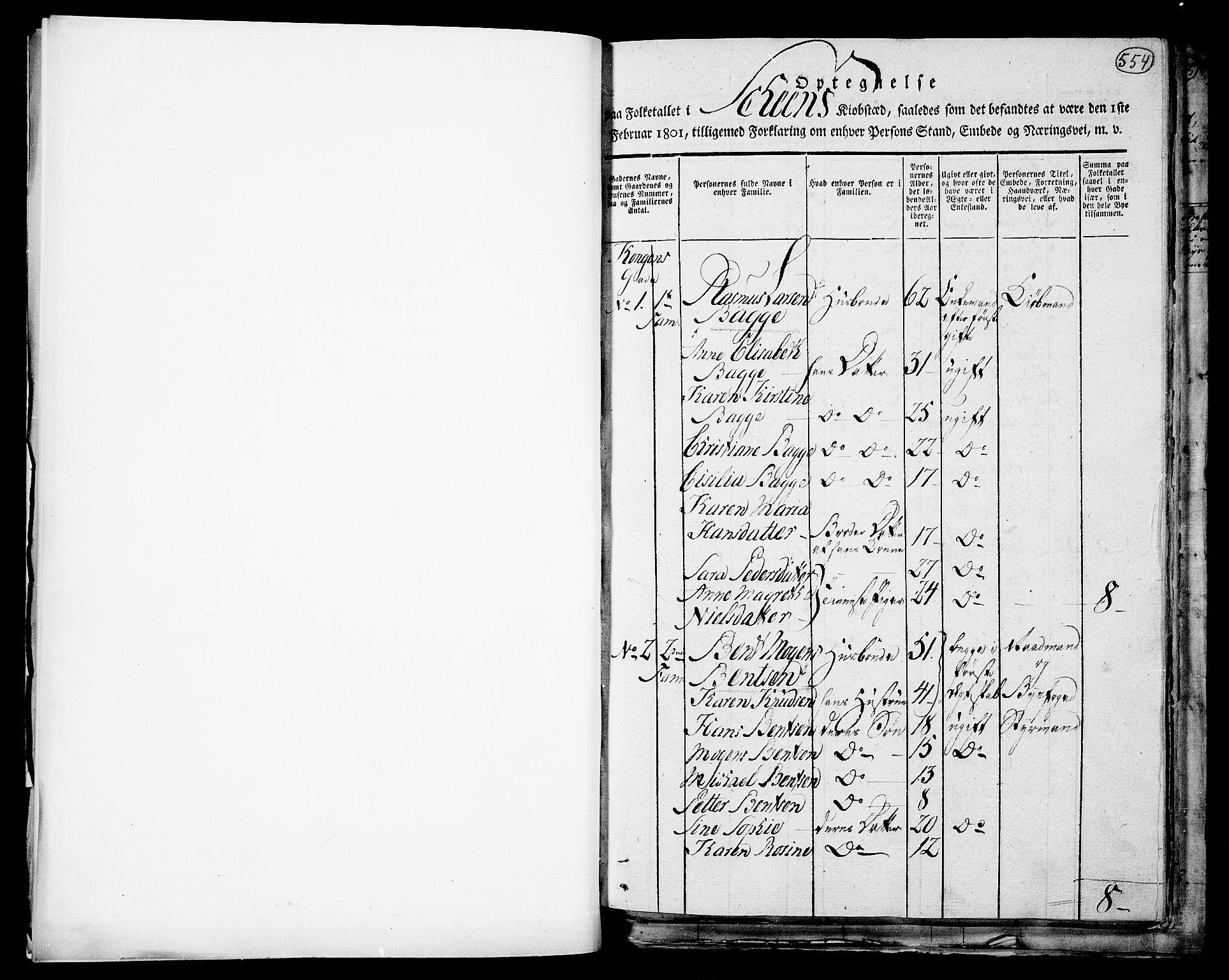 RA, Folketelling 1801 for 0806P Skien prestegjeld, 1801, s. 554a