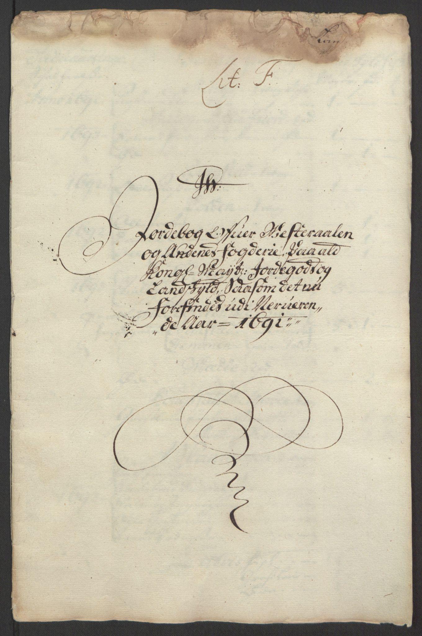 RA, Rentekammeret inntil 1814, Reviderte regnskaper, Fogderegnskap, R67/L4676: Fogderegnskap Vesterålen, Andenes og Lofoten, 1691-1693, s. 46