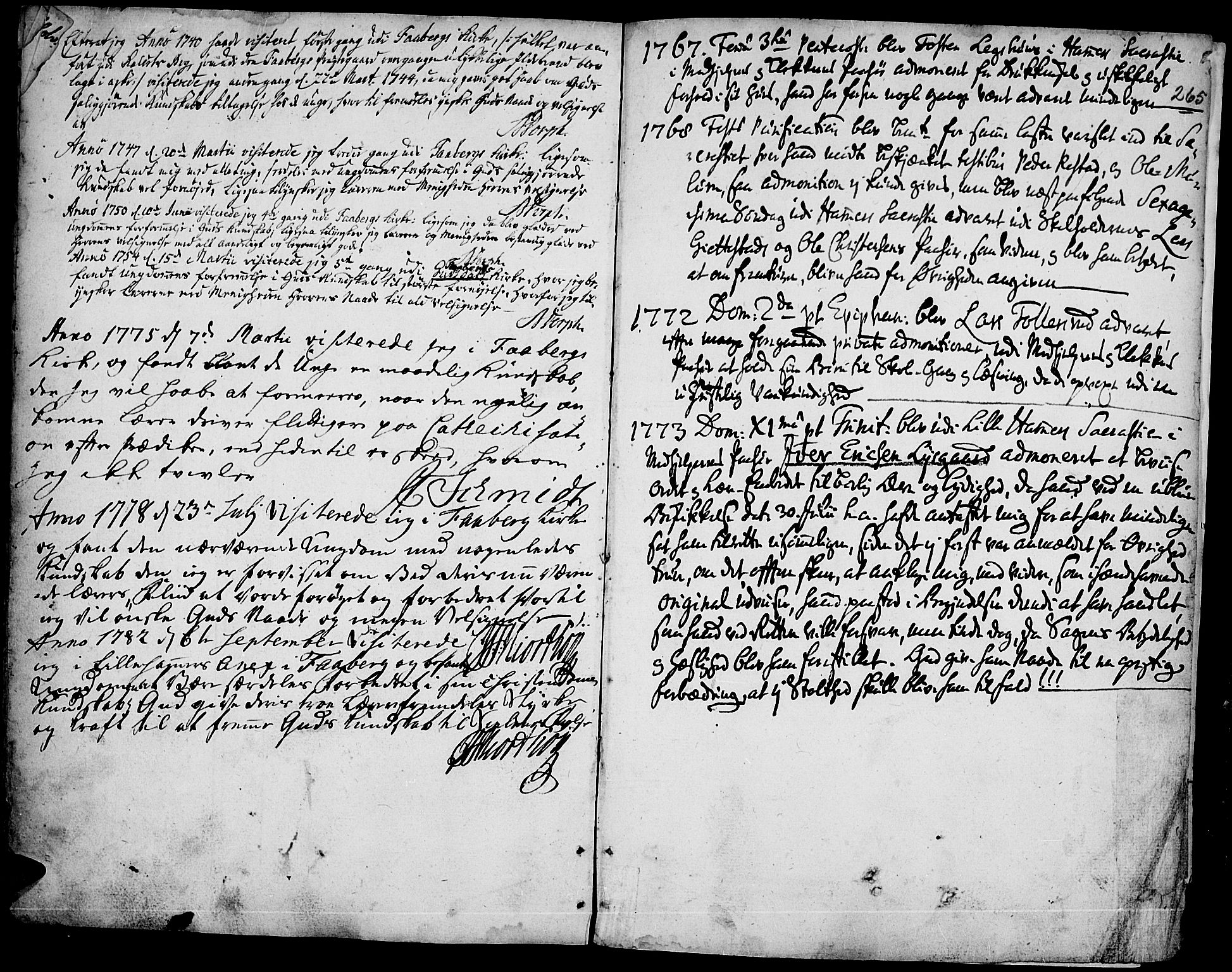 SAH, Fåberg prestekontor, Ministerialbok nr. 1, 1727-1775, s. 265