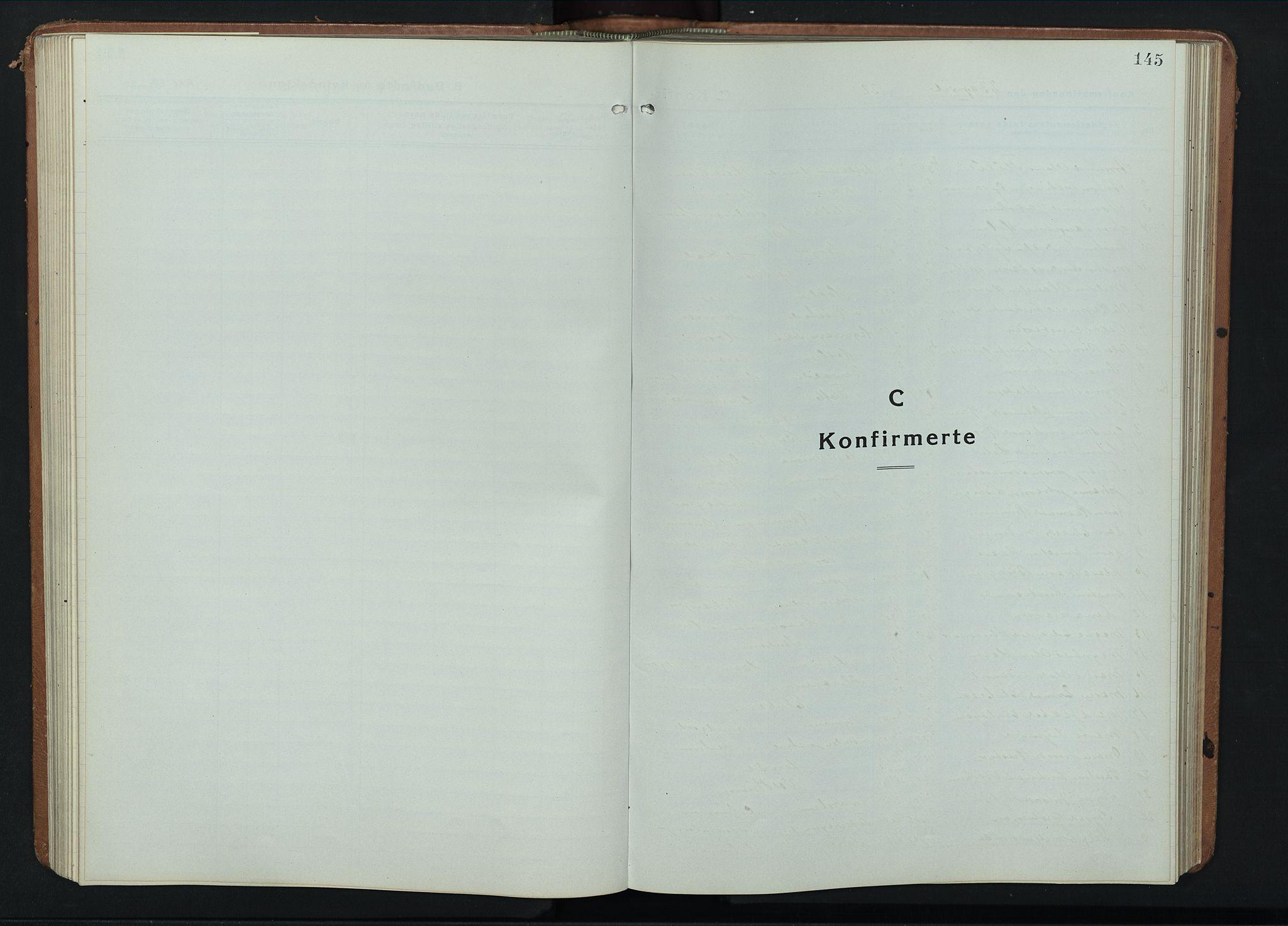 SAH, Fåberg prestekontor, Klokkerbok nr. 14, 1922-1946, s. 145