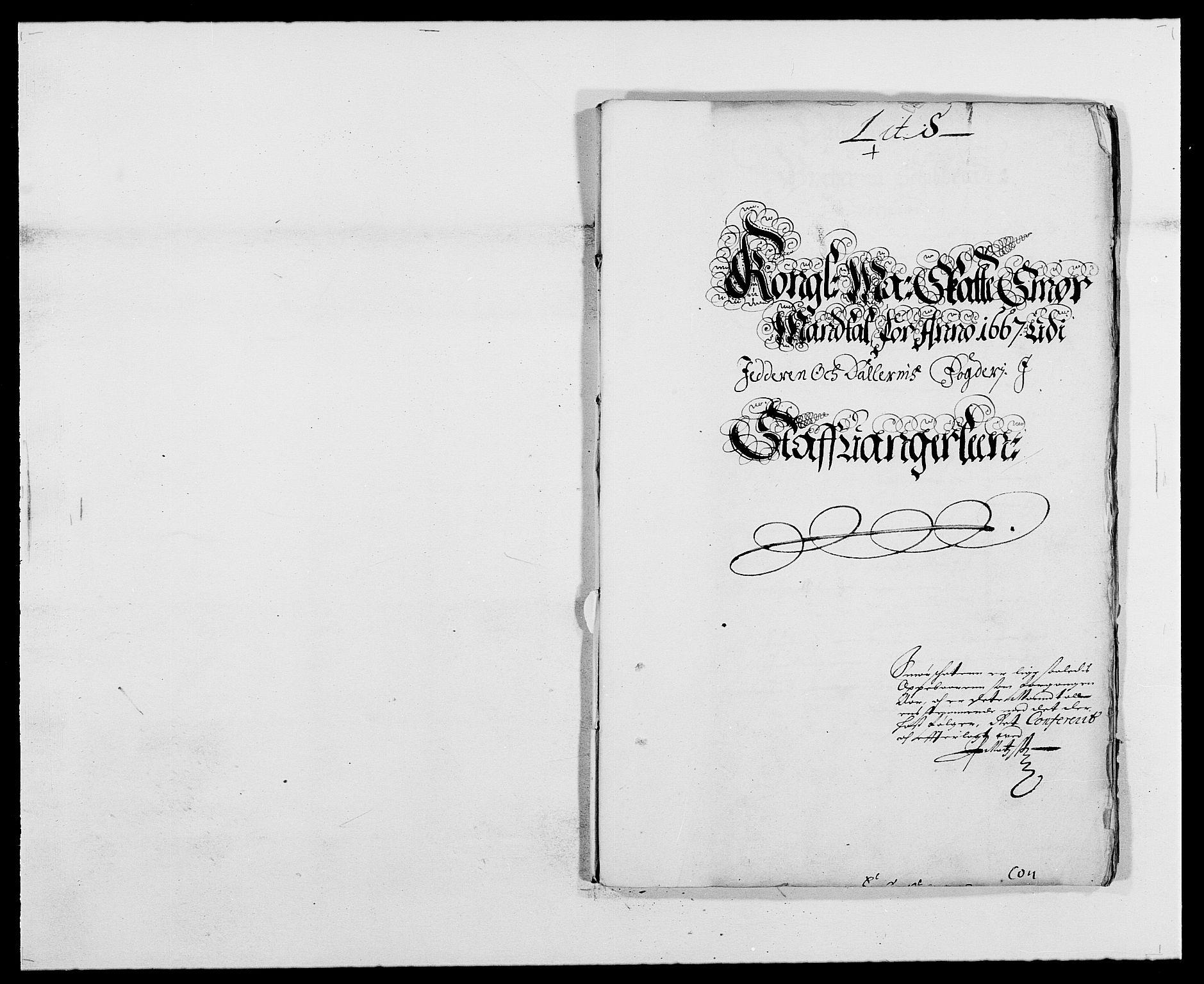 RA, Rentekammeret inntil 1814, Reviderte regnskaper, Fogderegnskap, R46/L2710: Fogderegnskap Jæren og Dalane, 1667, s. 220