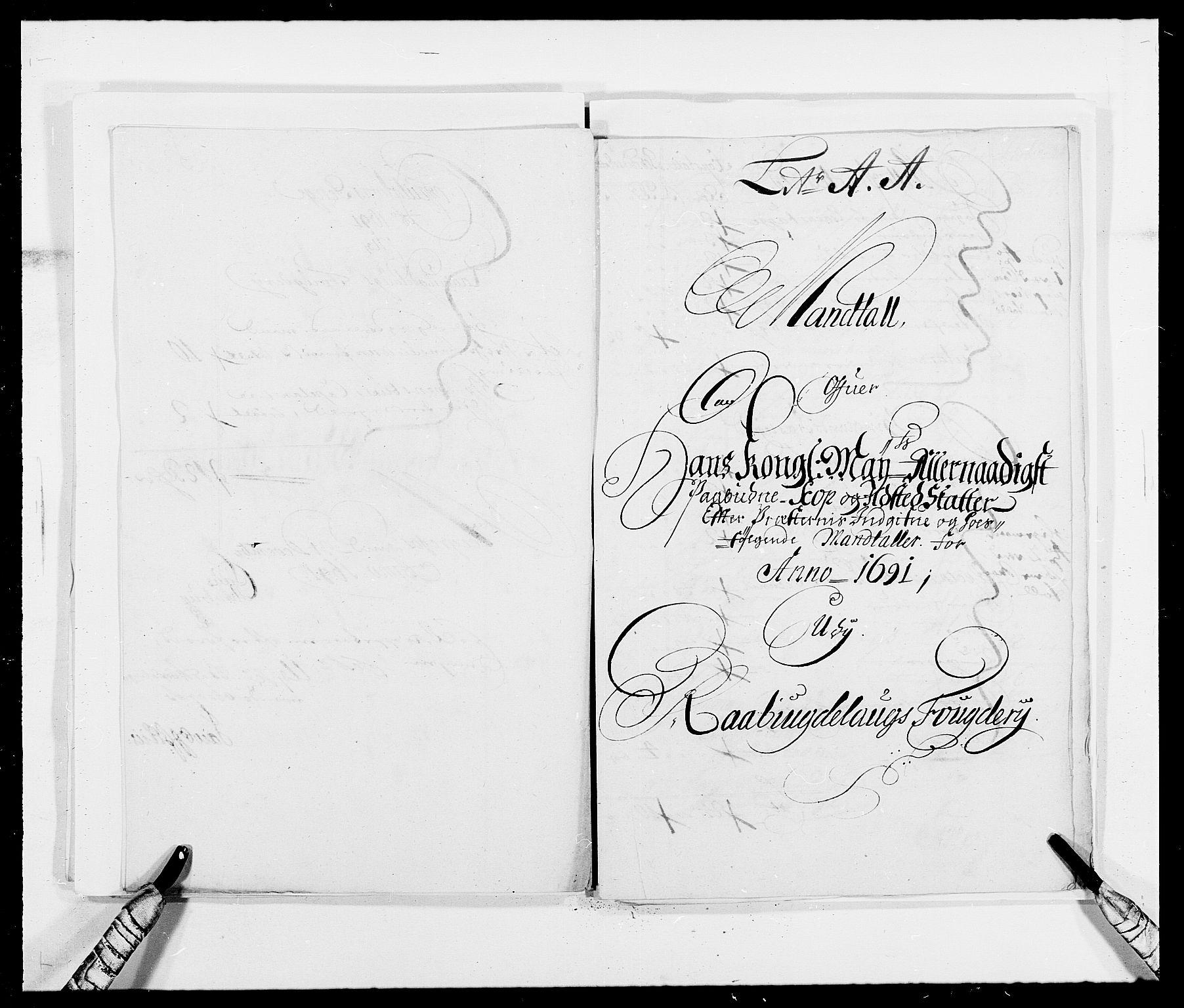 RA, Rentekammeret inntil 1814, Reviderte regnskaper, Fogderegnskap, R40/L2443: Fogderegnskap Råbyggelag, 1691-1692, s. 68