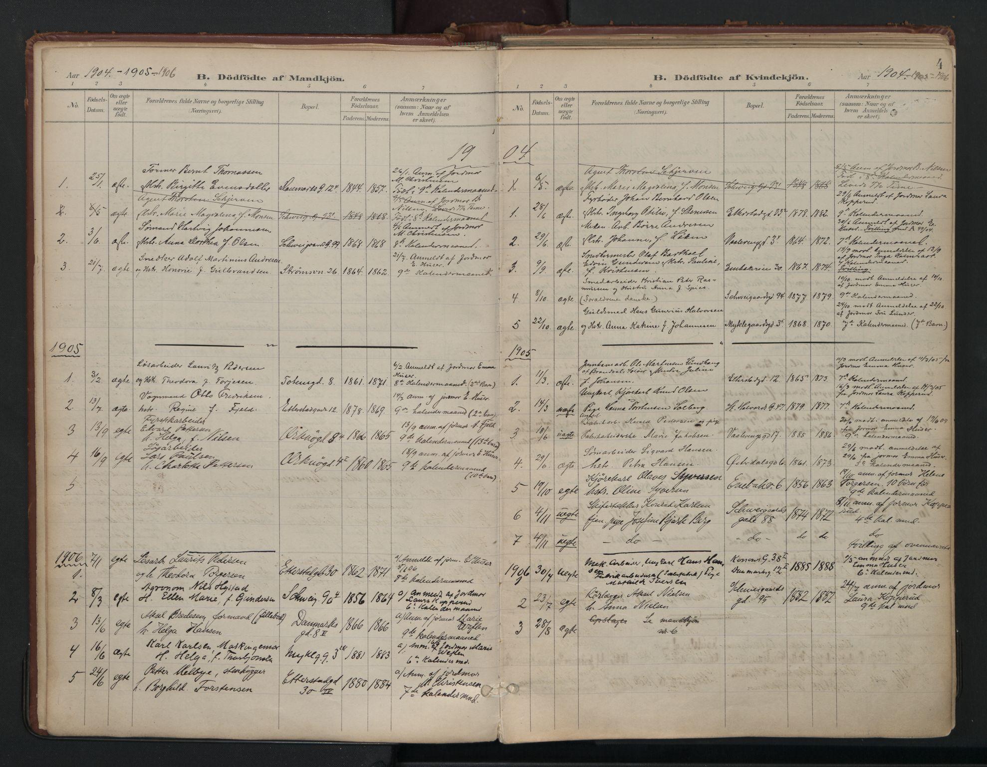 SAO, Vålerengen prestekontor Kirkebøker, F/Fa/L0003: Ministerialbok nr. 3, 1899-1930, s. 4