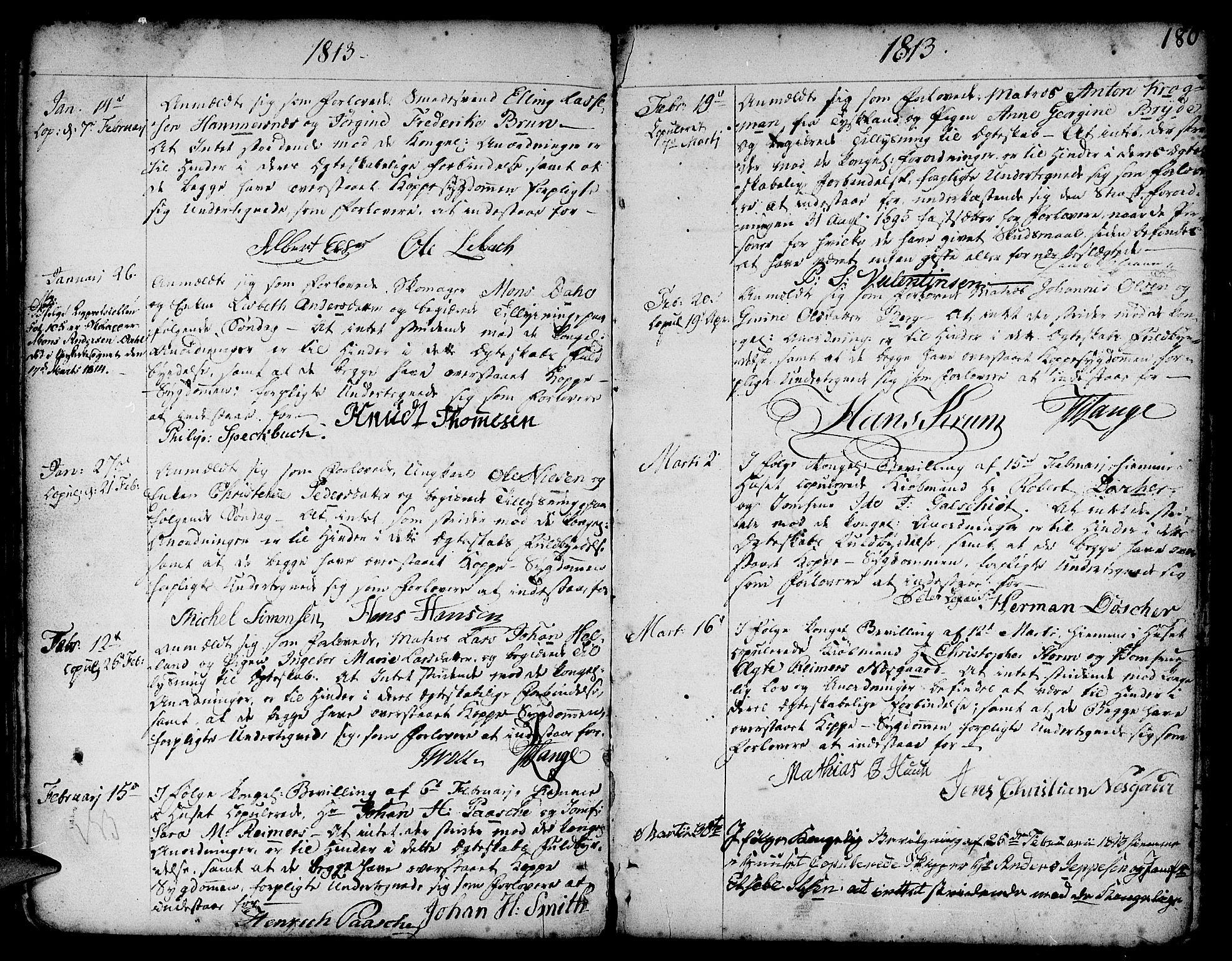 SAB, Nykirken Sokneprestembete, H/Haa: Ministerialbok nr. A 8, 1776-1814, s. 180