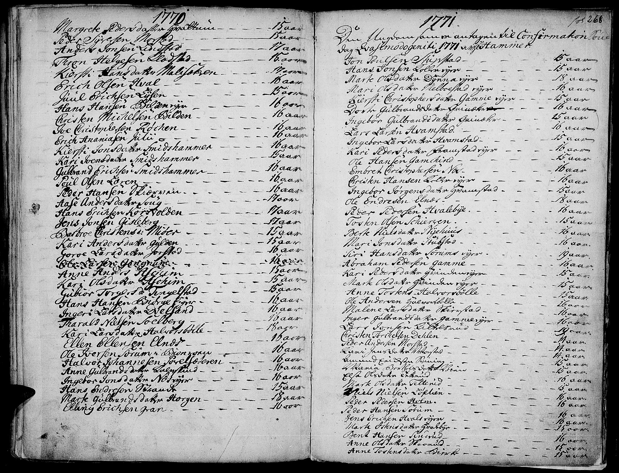 SAH, Gran prestekontor, Ministerialbok nr. 4, 1759-1775, s. 268