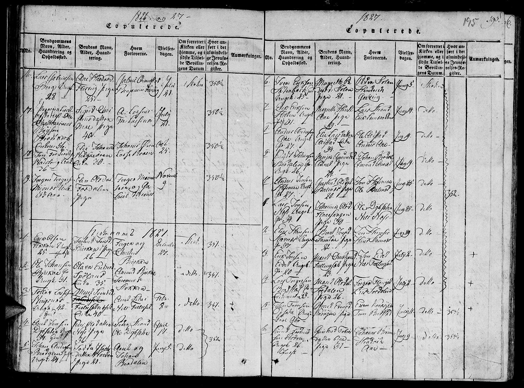 SAT, Ministerialprotokoller, klokkerbøker og fødselsregistre - Sør-Trøndelag, 630/L0491: Ministerialbok nr. 630A04, 1818-1830, s. 195