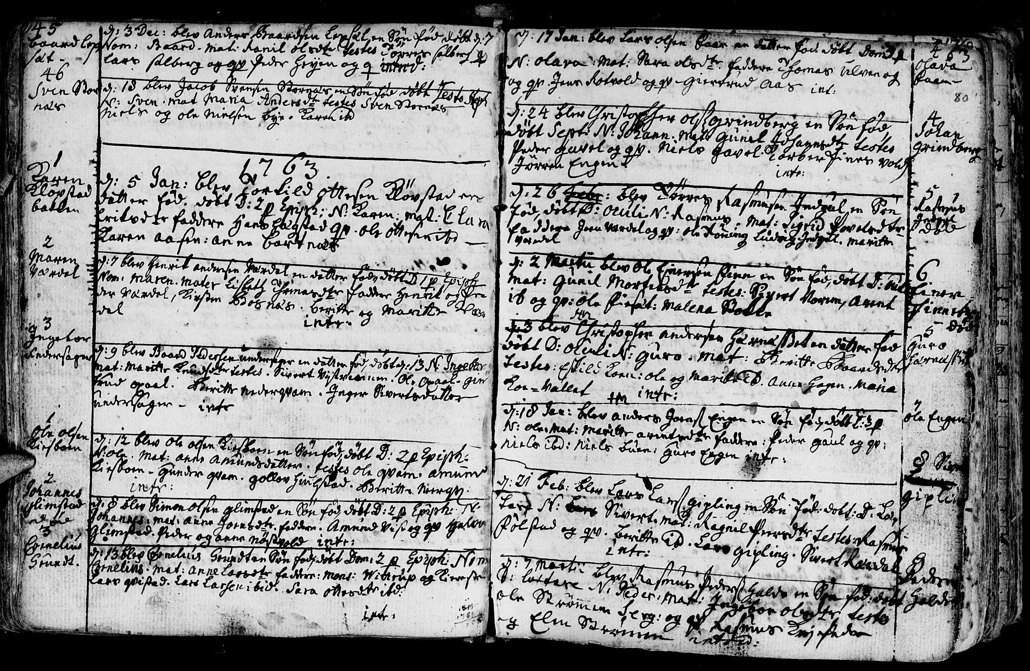 SAT, Ministerialprotokoller, klokkerbøker og fødselsregistre - Nord-Trøndelag, 730/L0273: Ministerialbok nr. 730A02, 1762-1802, s. 80